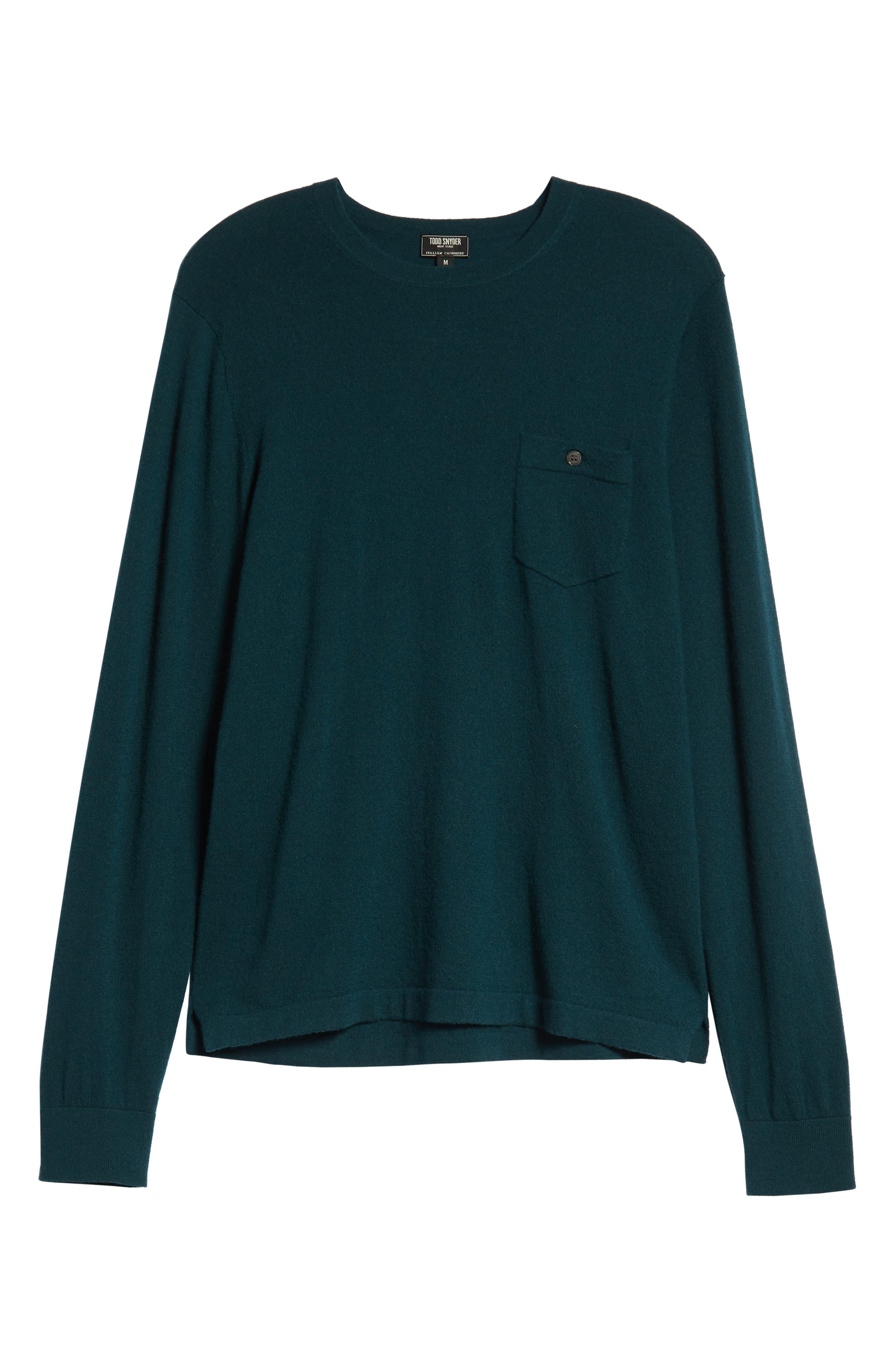 Cashmere Sweater,                             Alternate thumbnail 6, color,                             PETROL