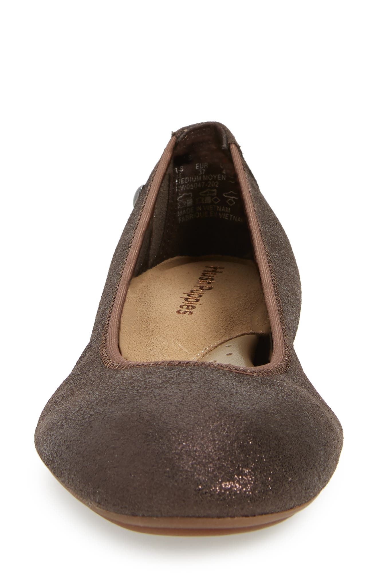 'Chaste' Ballet Flat,                             Alternate thumbnail 4, color,                             DARK BROWN GLITTER
