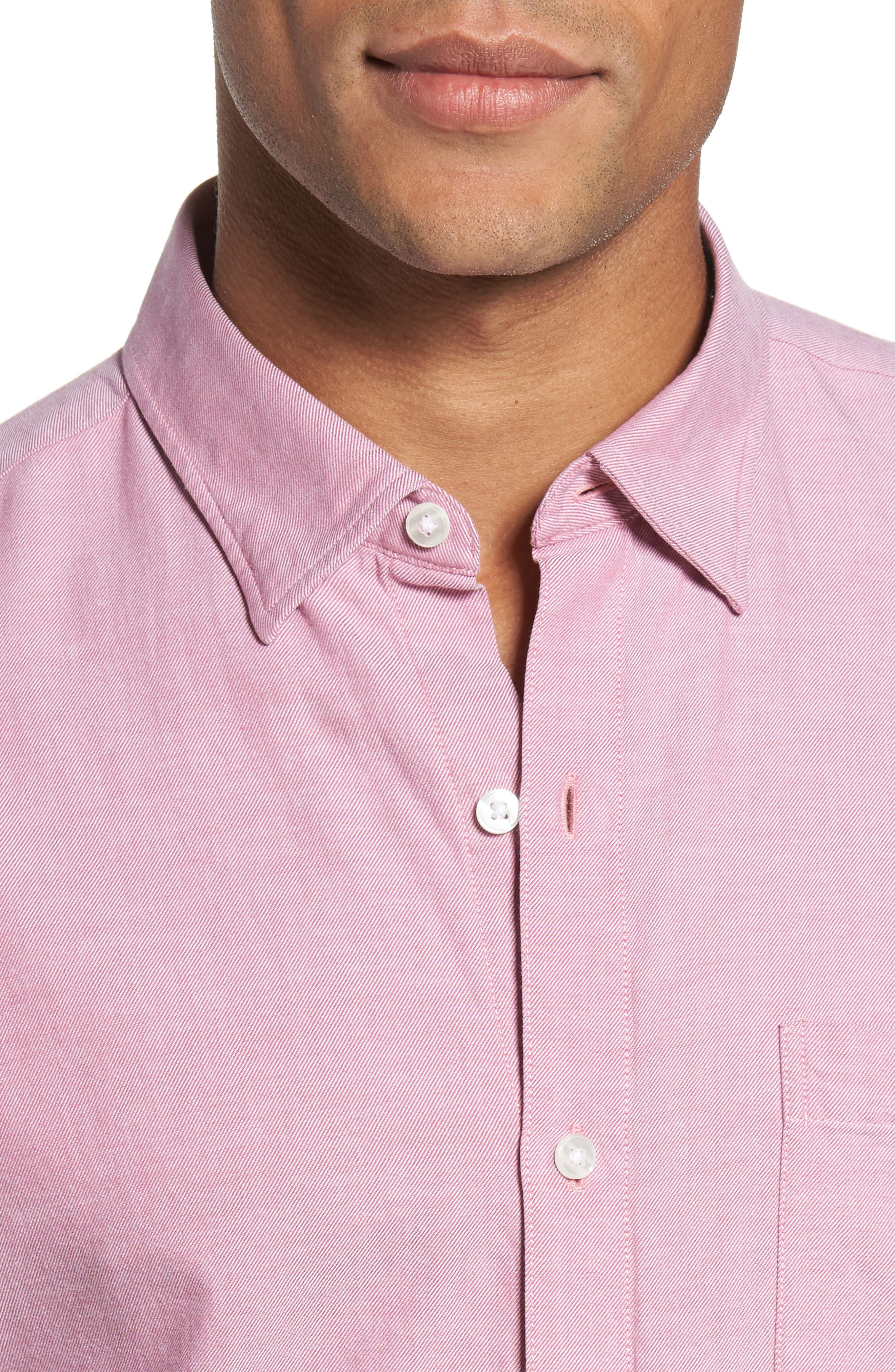 Slim Fit Brushed Twill Sport Shirt,                             Alternate thumbnail 4, color,                             650