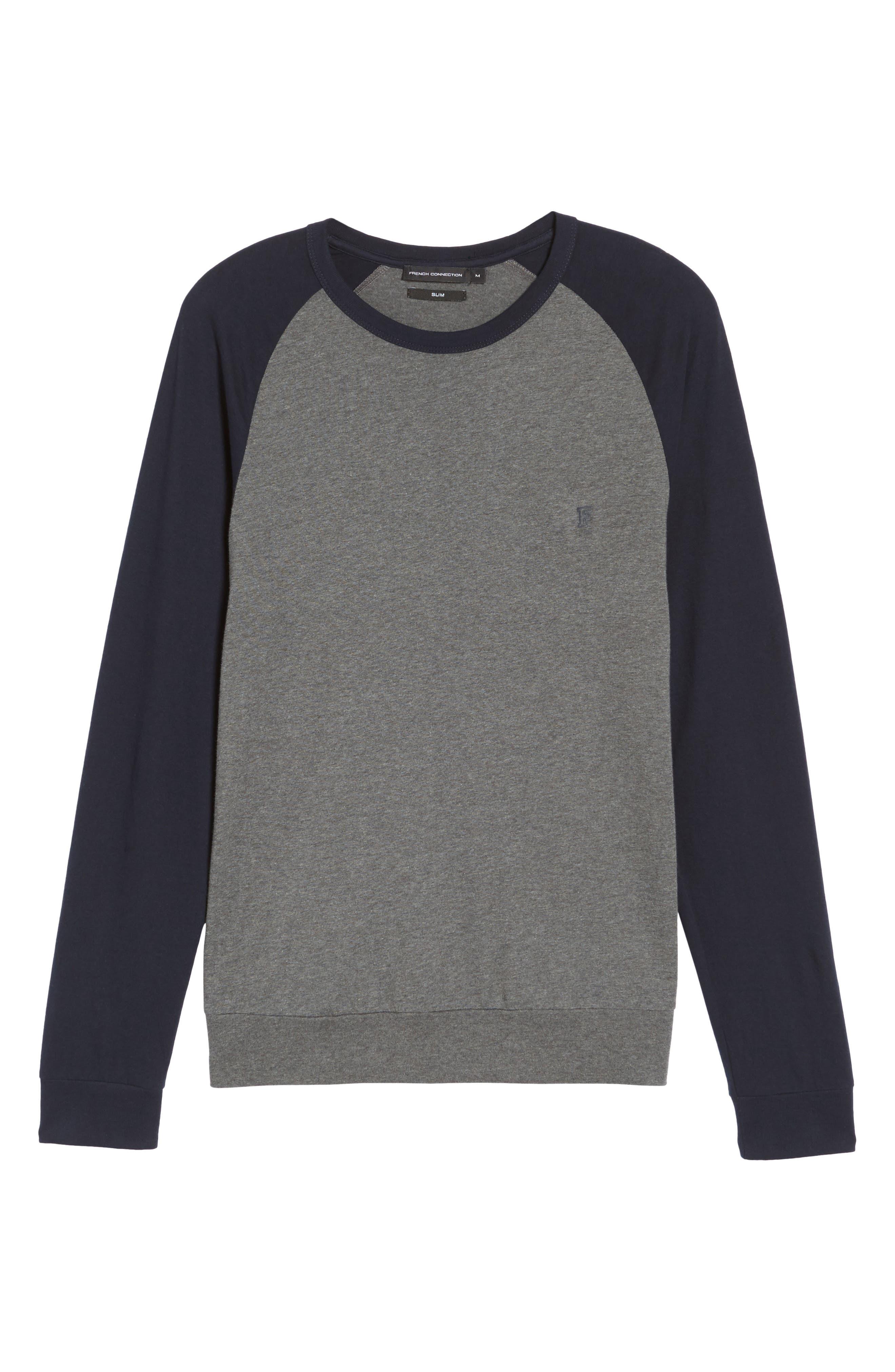 Classic Long Sleeve Raglan T-Shirt,                             Alternate thumbnail 6, color,                             025