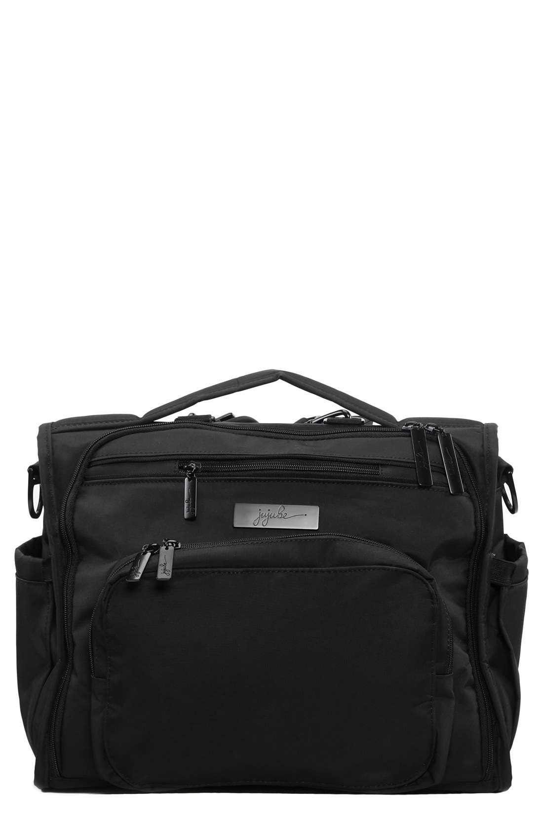 'BFF - Onyx Collection' Diaper Bag,                         Main,                         color, BLACK OUT