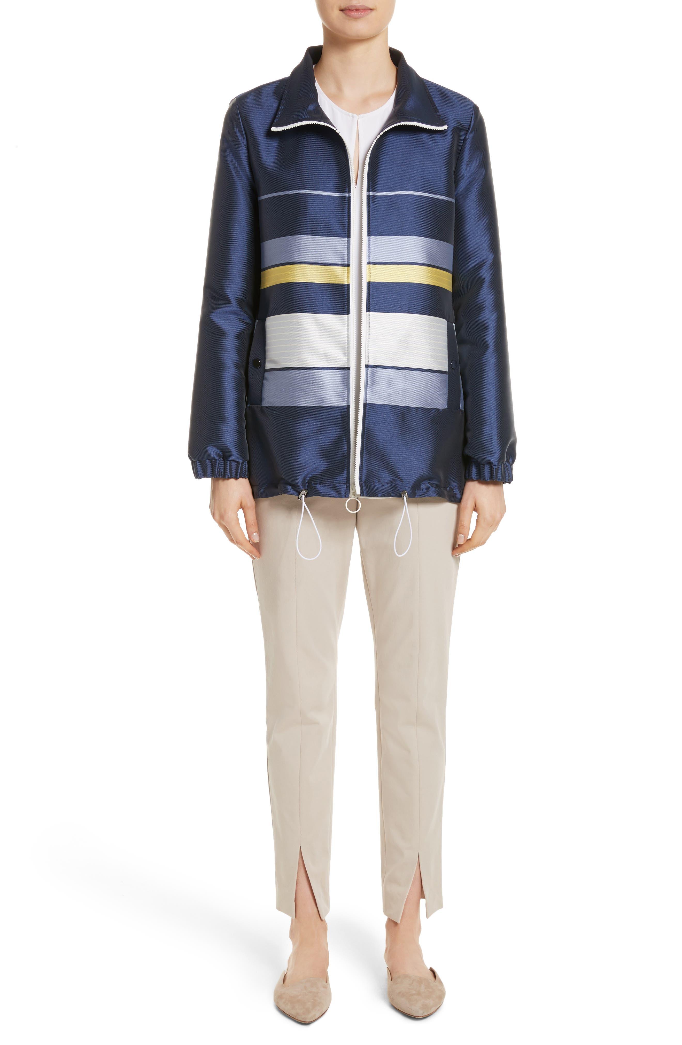 Double Face Stripe Twill Jacket,                             Alternate thumbnail 7, color,                             420