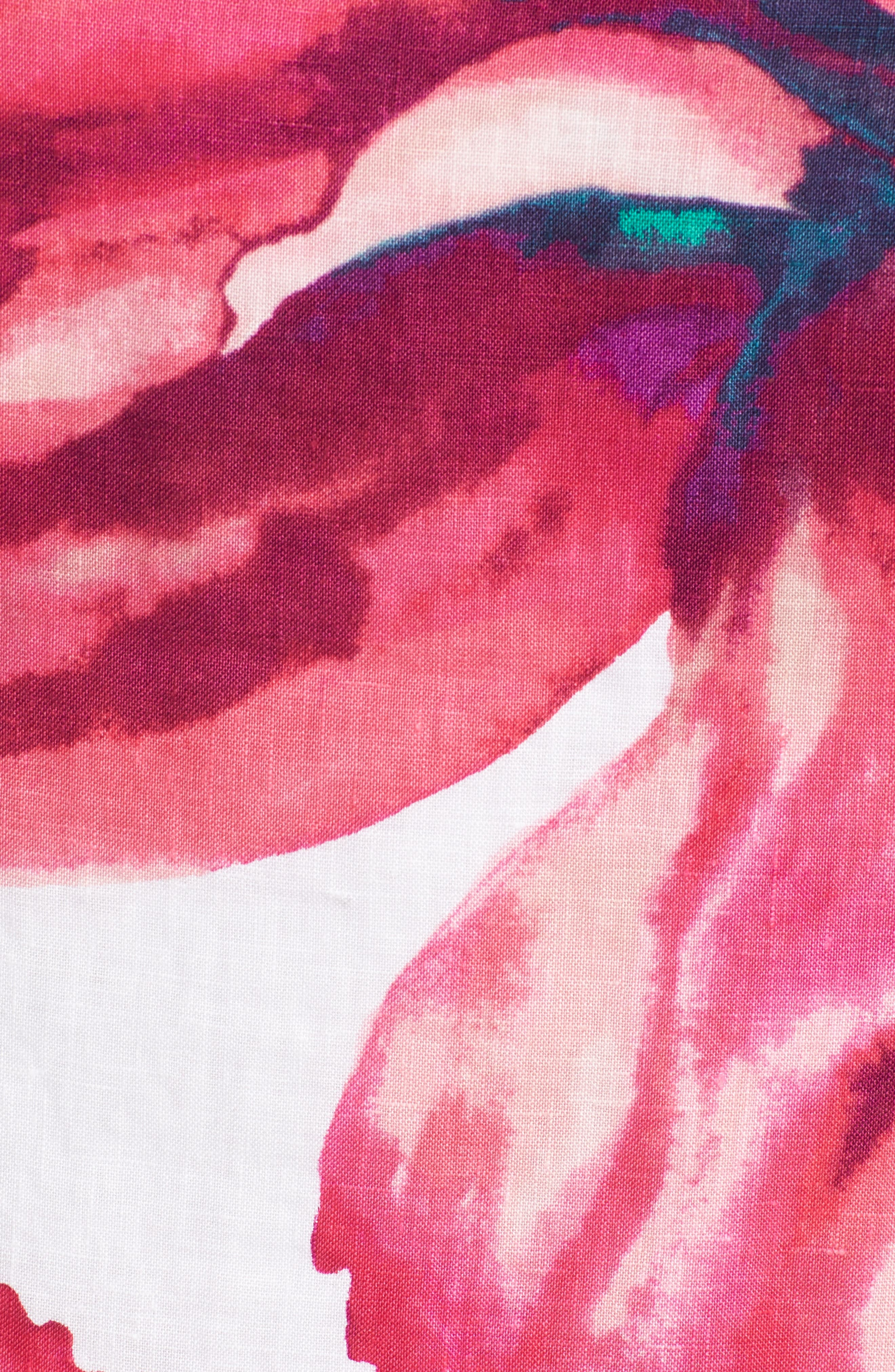 Kavala Blossoms Linen Shift Dress,                             Alternate thumbnail 5, color,