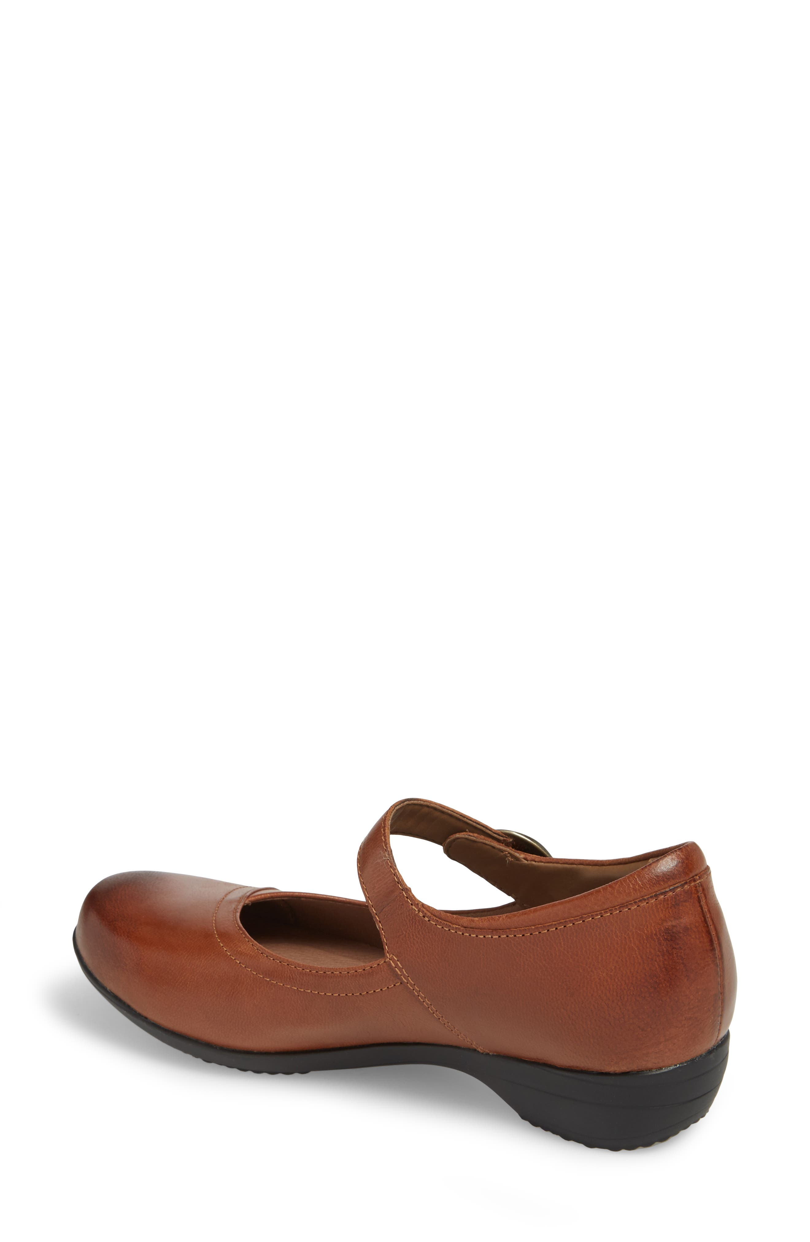Fawna Mary Jane Flat,                             Alternate thumbnail 2, color,                             CHESTNUT LEATHER