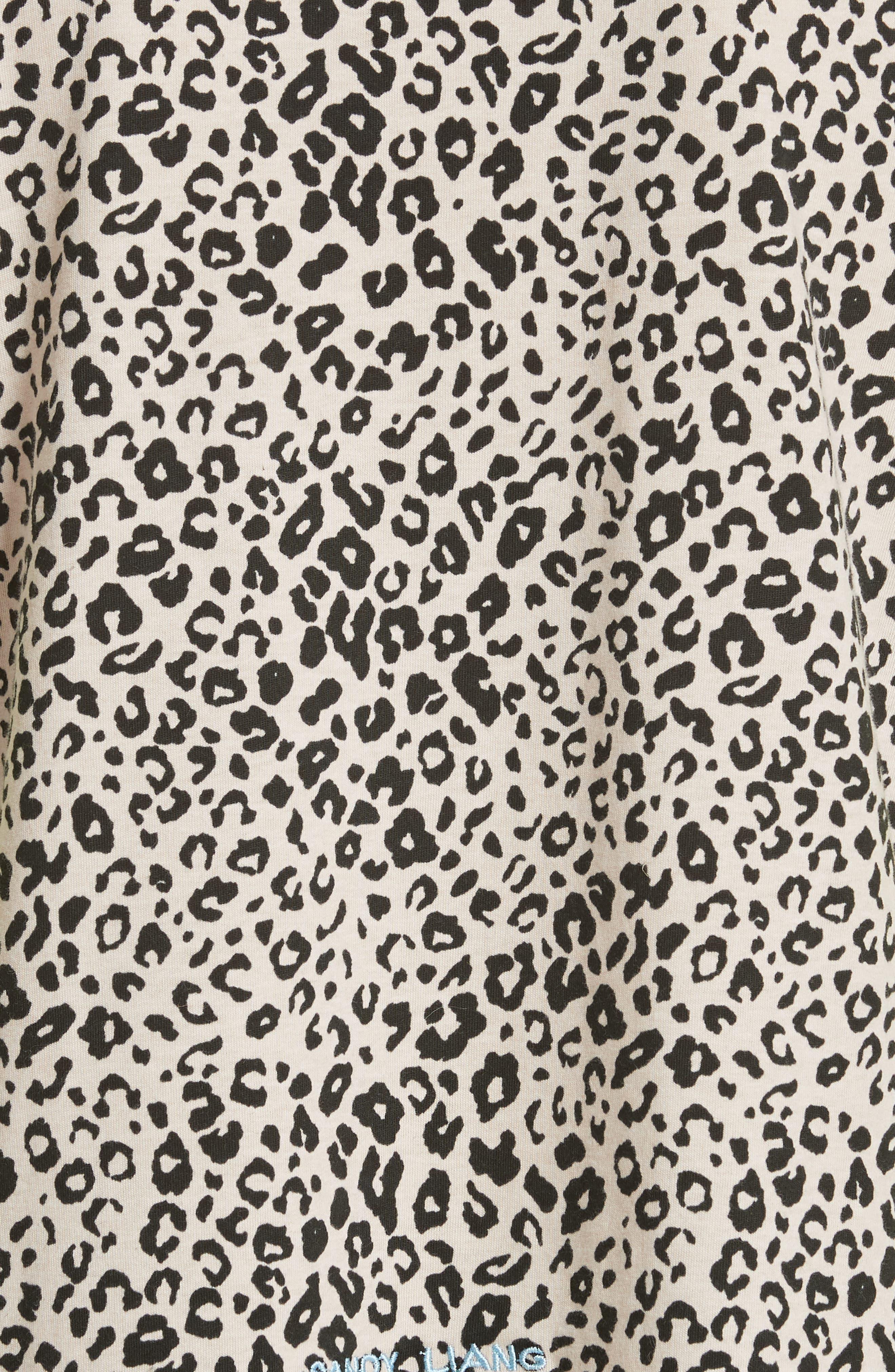 Lewis Leopard & Neon Sweater,                             Alternate thumbnail 5, color,                             SNOW LEOPARD