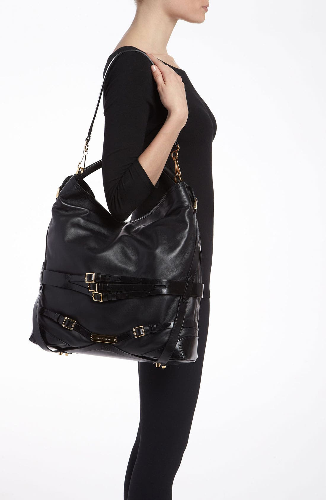 'Bridle' Leather Hobo,                             Alternate thumbnail 2, color,                             002