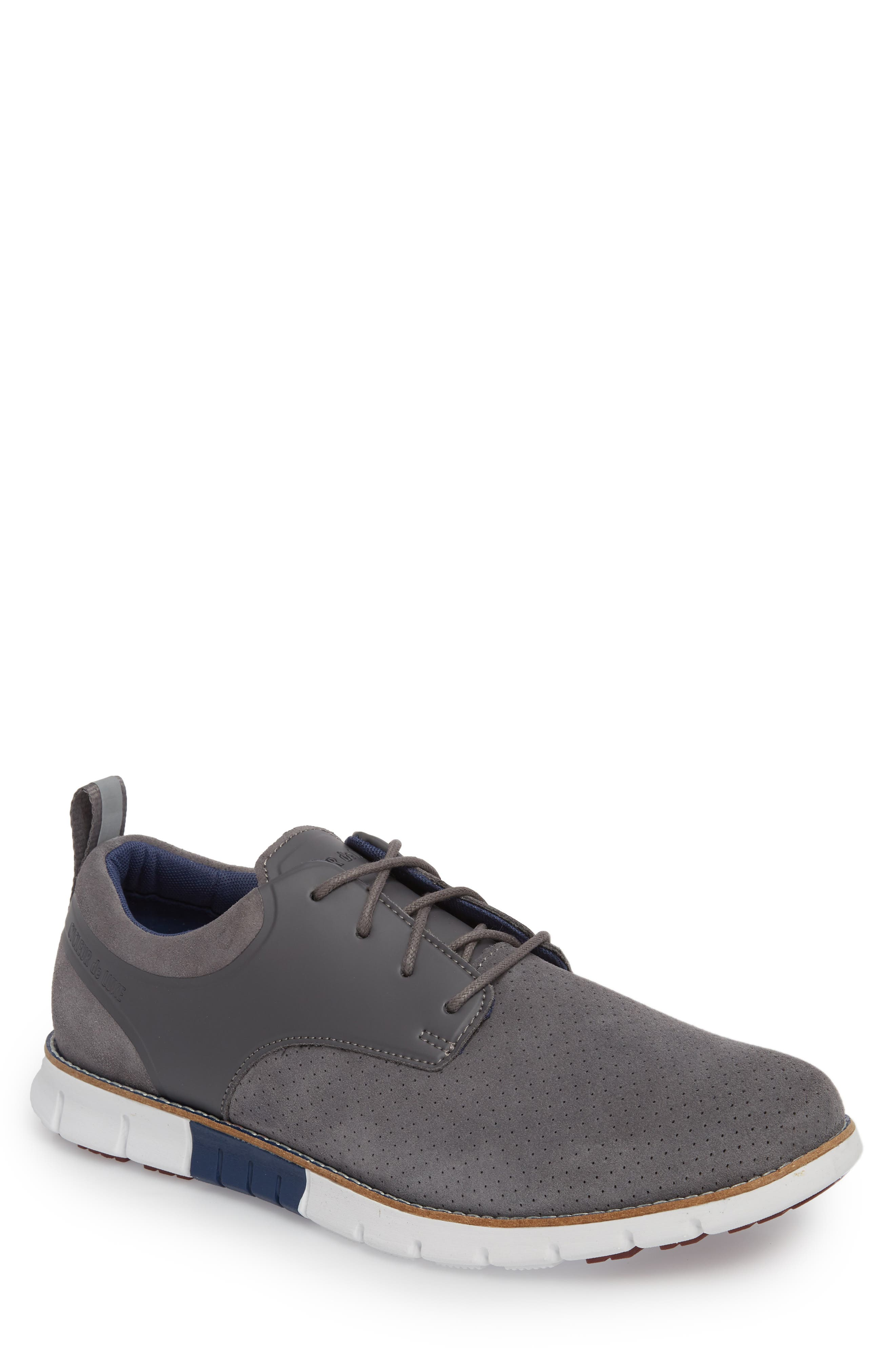 Ridley Perforated Low Top Sneaker,                             Main thumbnail 1, color,                             020