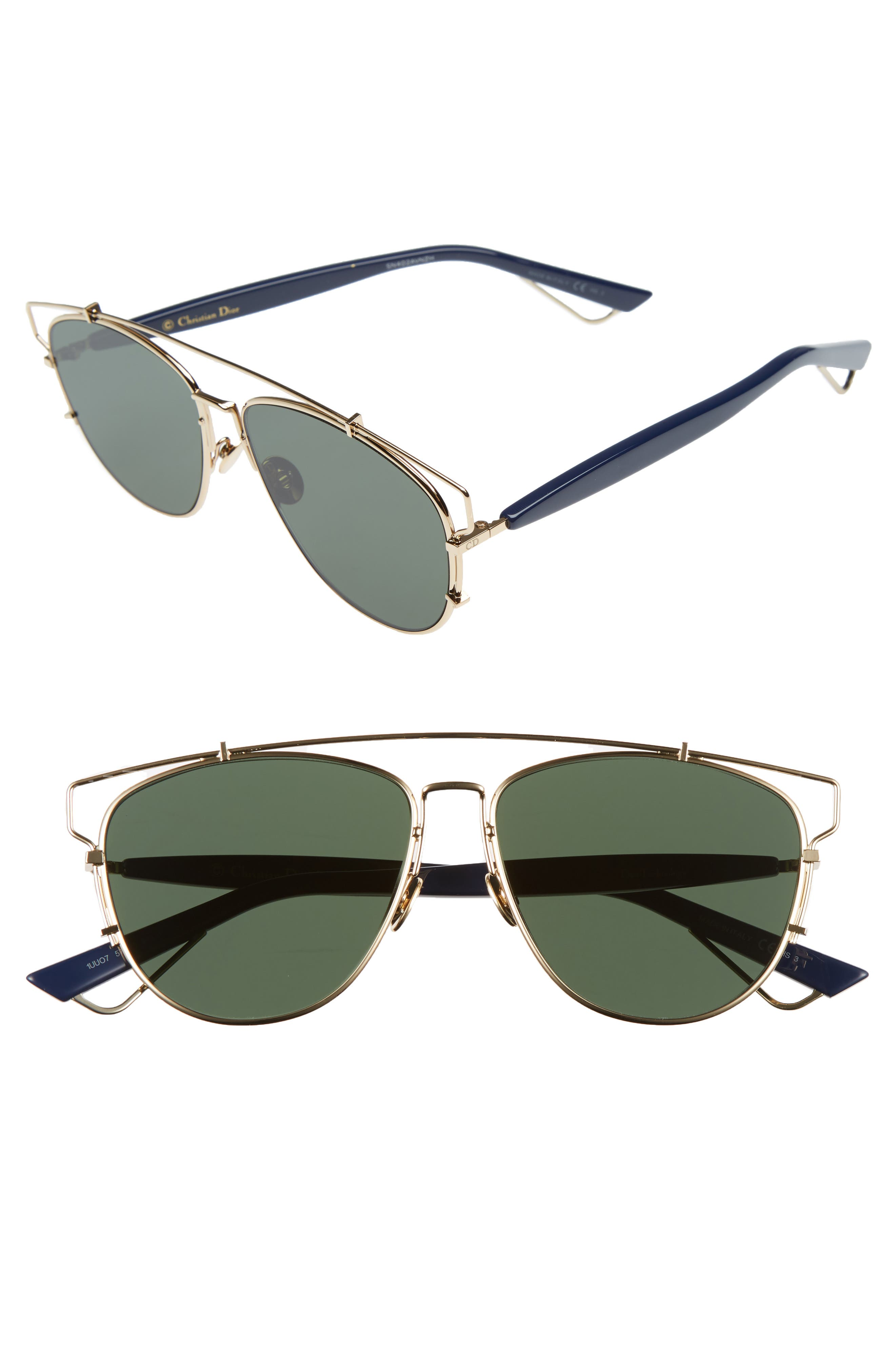 Technologic 57mm Brow Bar Sunglasses,                             Main thumbnail 14, color,