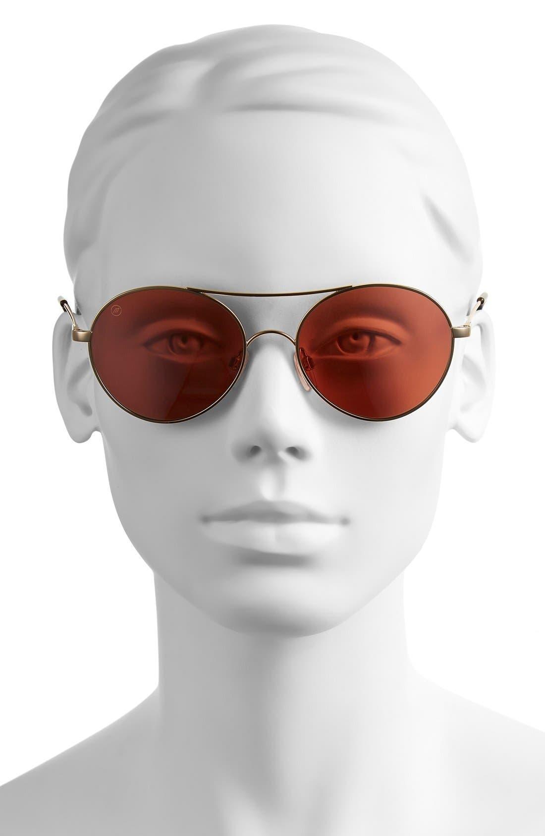 'Huxley' 53mm Round Sunglasses,                             Alternate thumbnail 6, color,