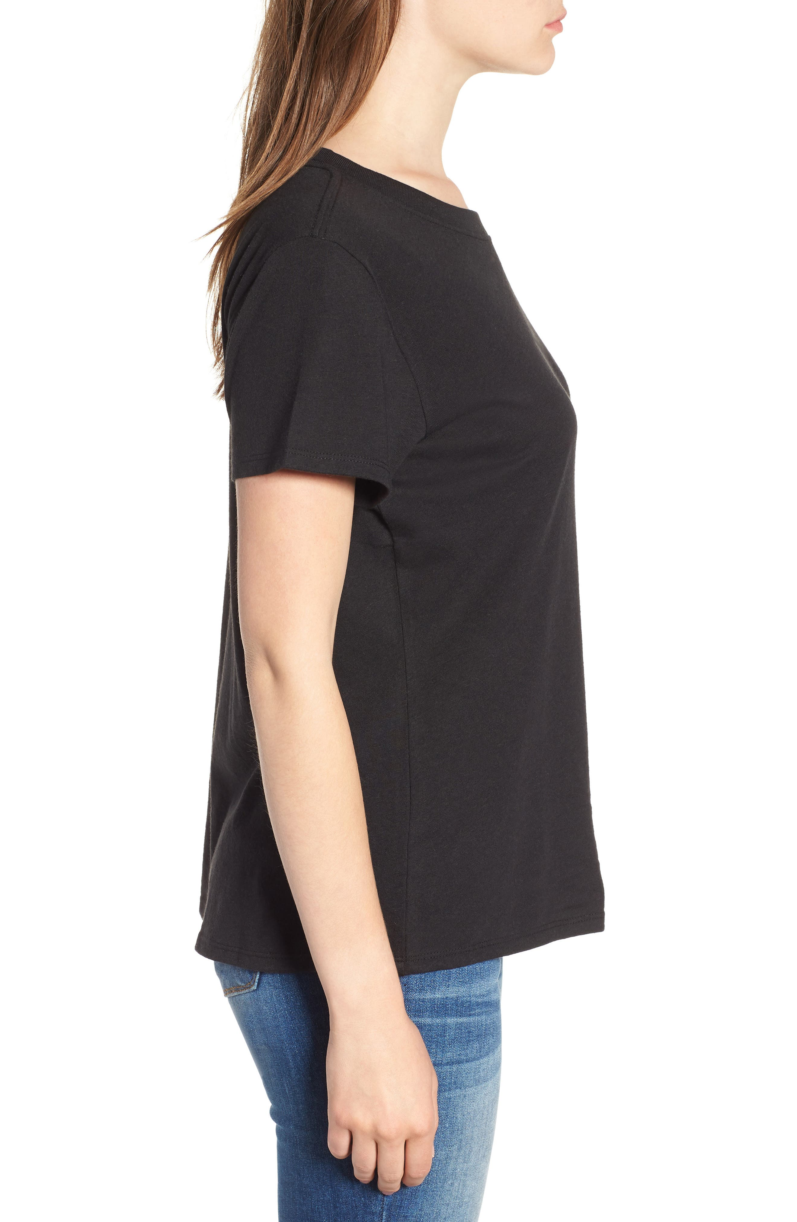 Ladies Who Brunch Slouched Tee,                             Alternate thumbnail 3, color,                             001