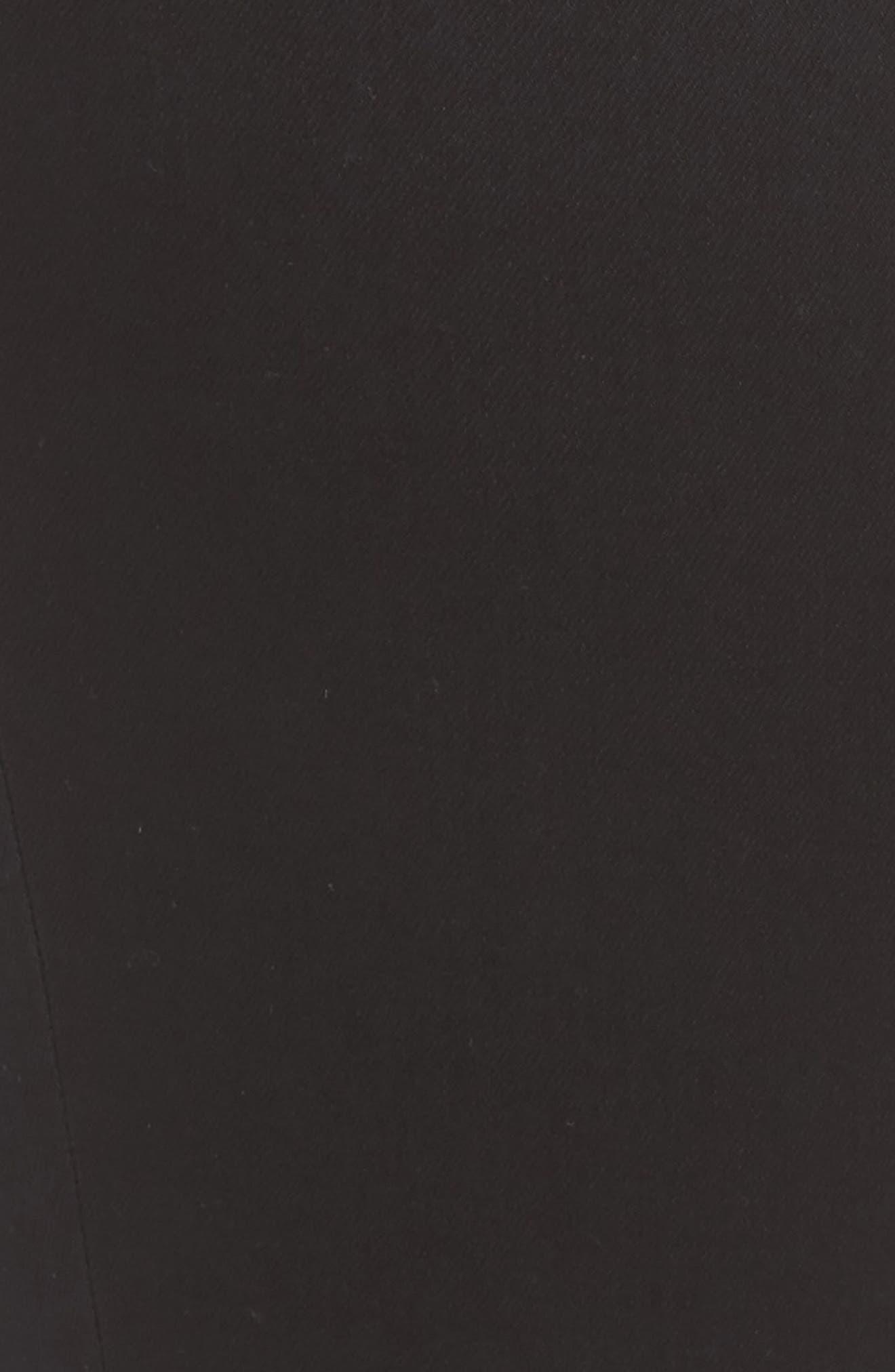 Sadie Stretch Straight Jeans,                             Alternate thumbnail 6, color,                             BLACK RINSE