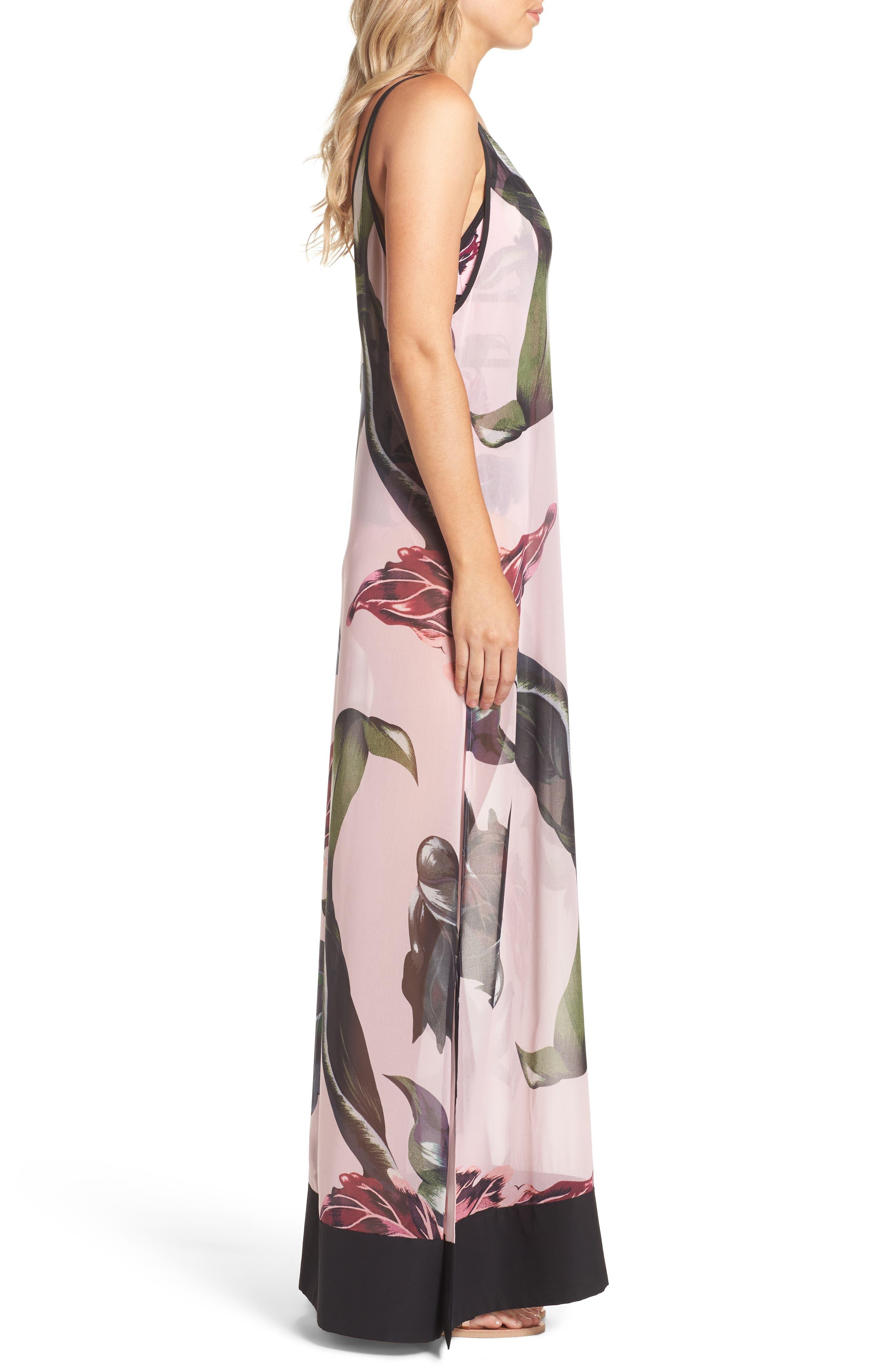 Edela Eden Print Cover-Up Maxi Dress,                             Alternate thumbnail 3, color,                             680