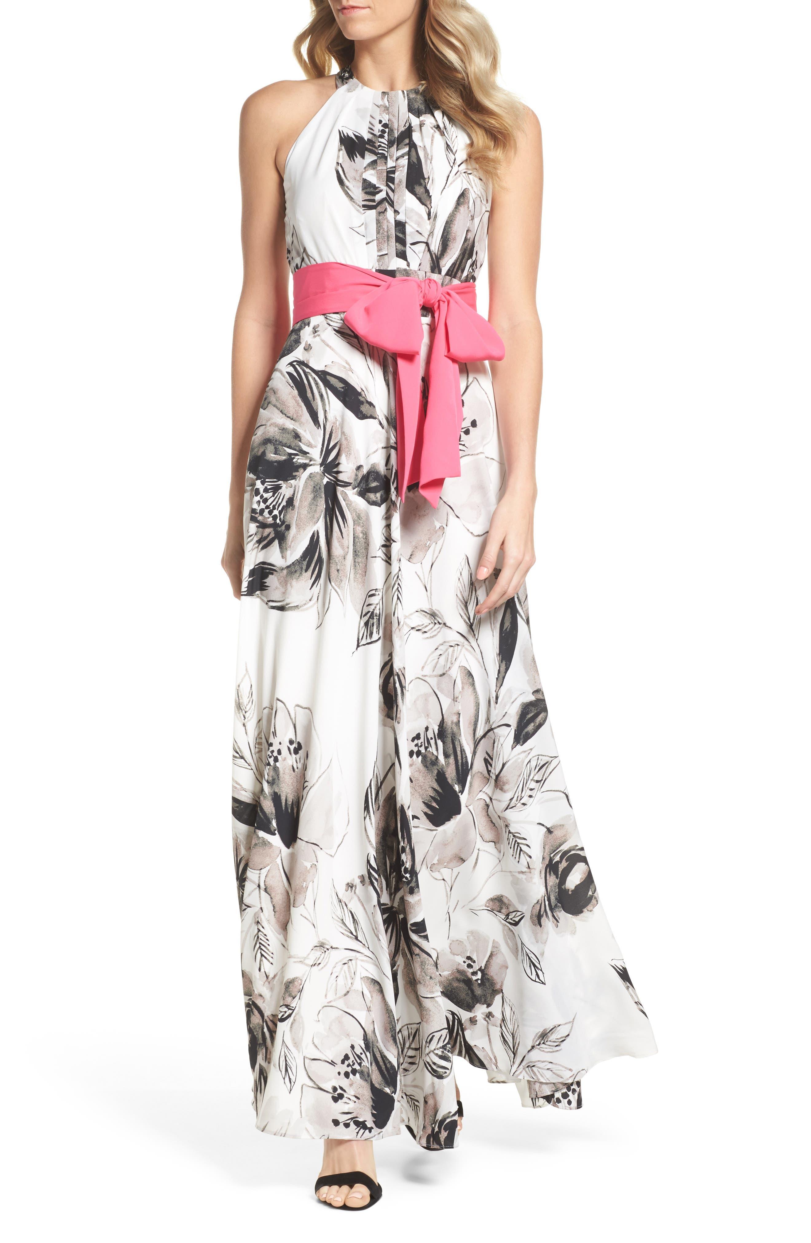 Chiffon Maxi Dress,                             Main thumbnail 1, color,                             011