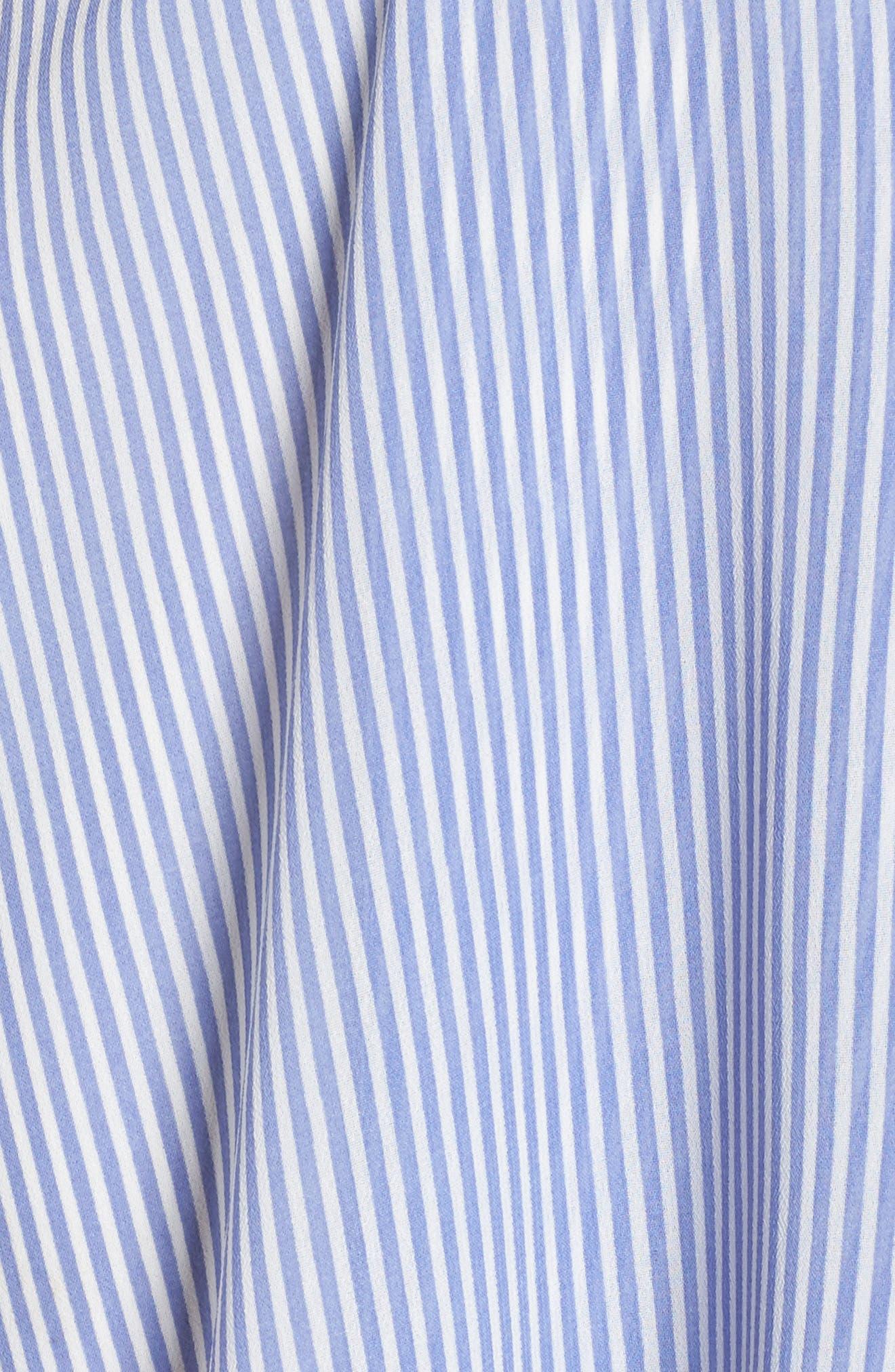 Stripe Faux Wrap Dress,                             Alternate thumbnail 5, color,                             411