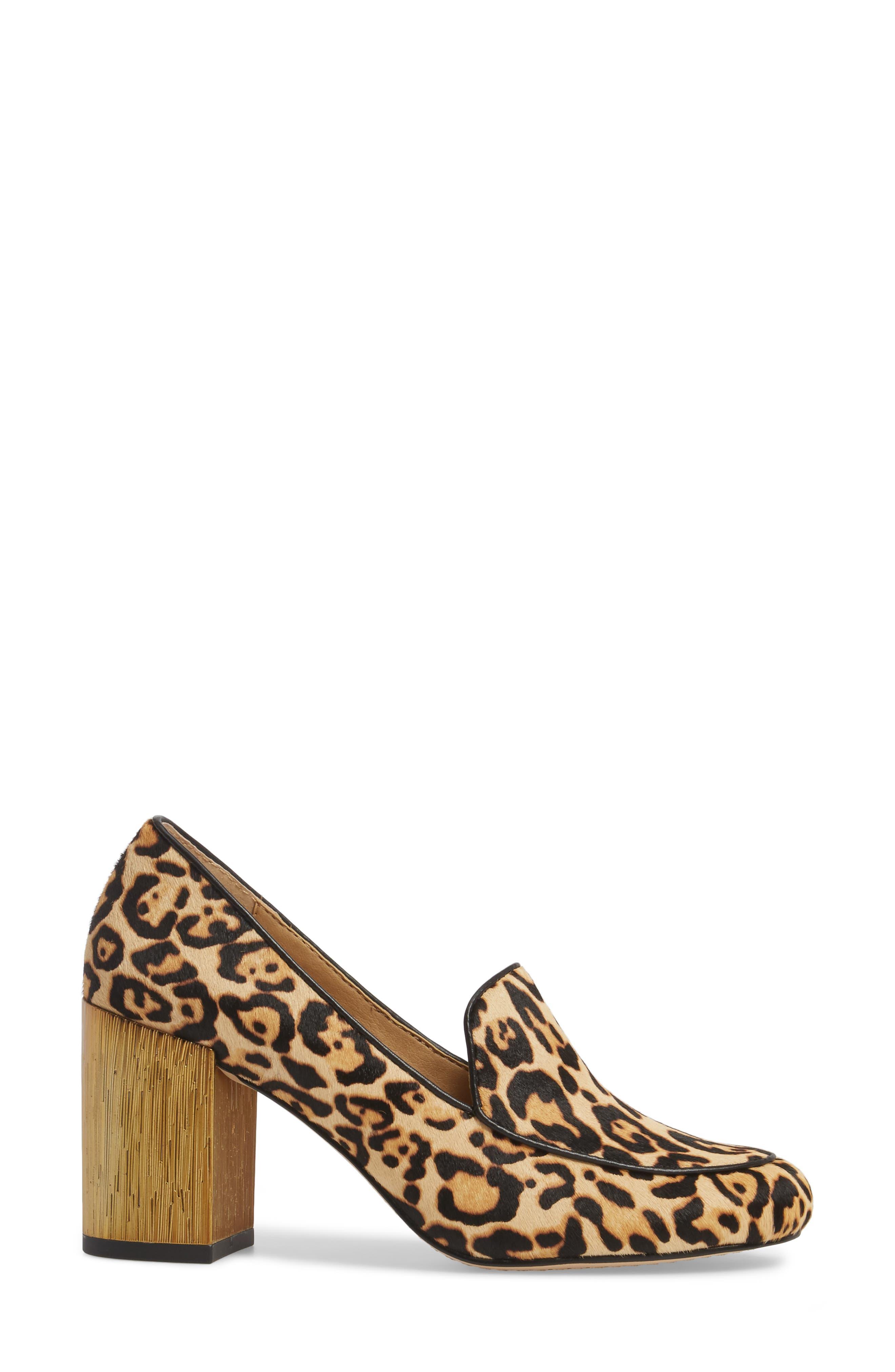 Rosita III Genuine Calf Hair Loafer Pump,                             Alternate thumbnail 3, color,                             200