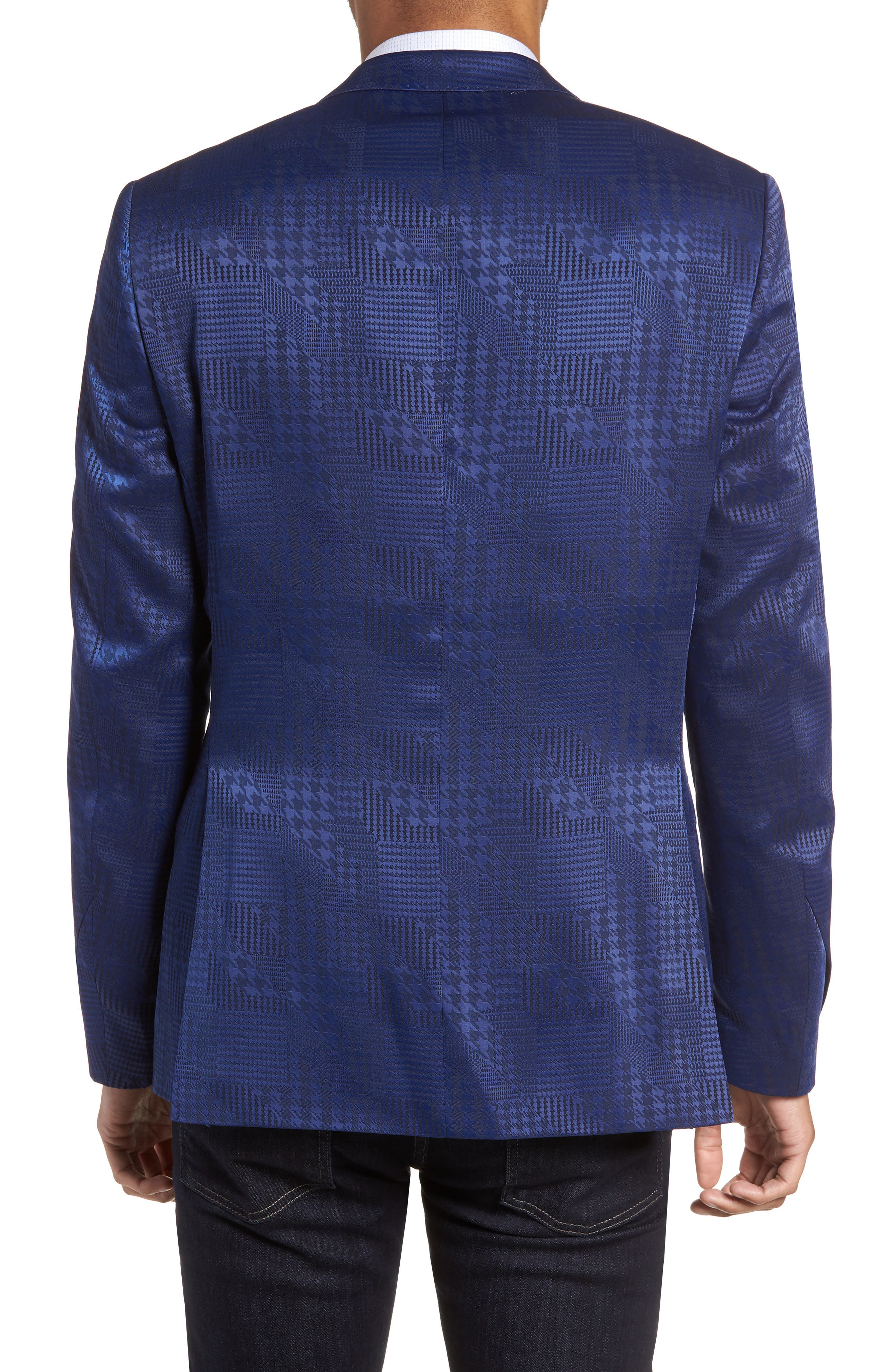 Descartes Patch Houndstooth Sport Coat,                             Alternate thumbnail 2, color,                             420