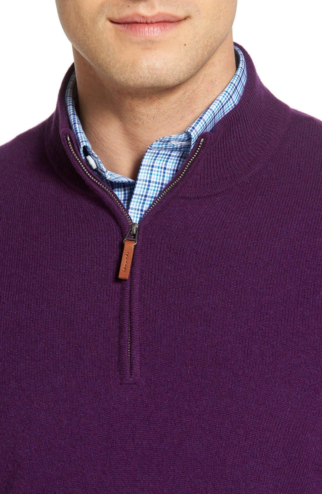 Cashmere Quarter Zip Sweater,                             Alternate thumbnail 50, color,