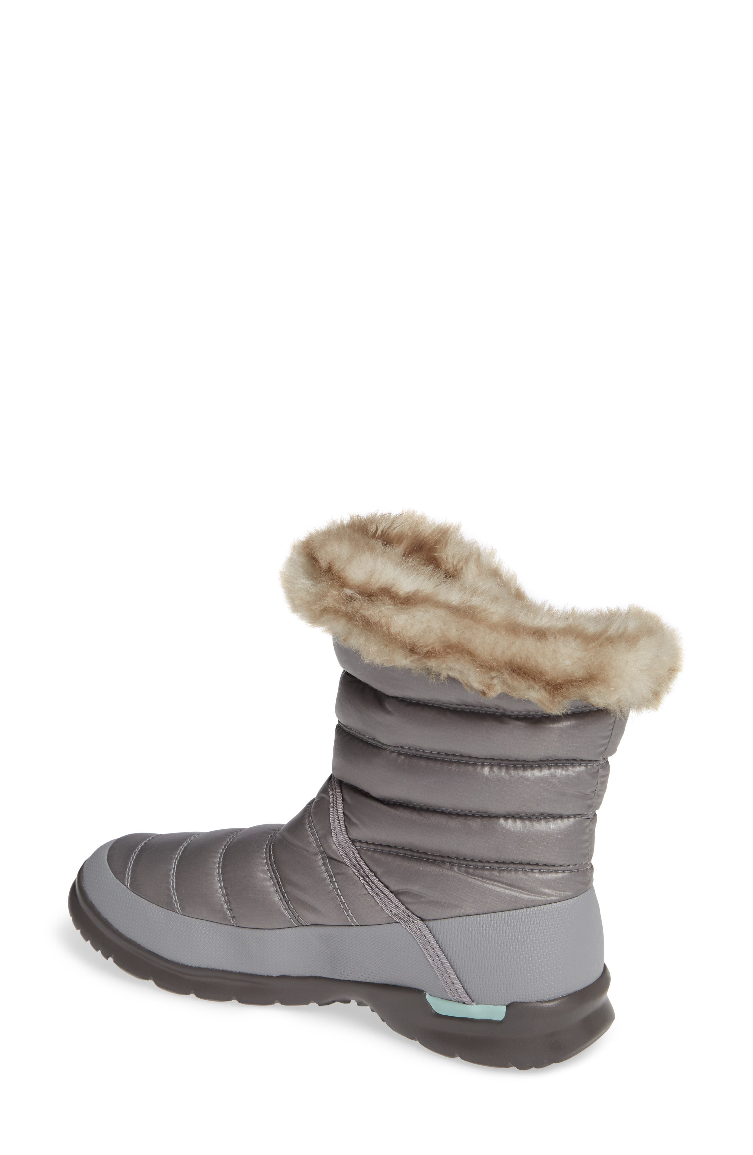 Microbaffle Waterproof ThermoBall<sup>®</sup> Insulated Winter Boot,                             Alternate thumbnail 2, color,                             SHINY FROST GREY/ BLUE HAZE