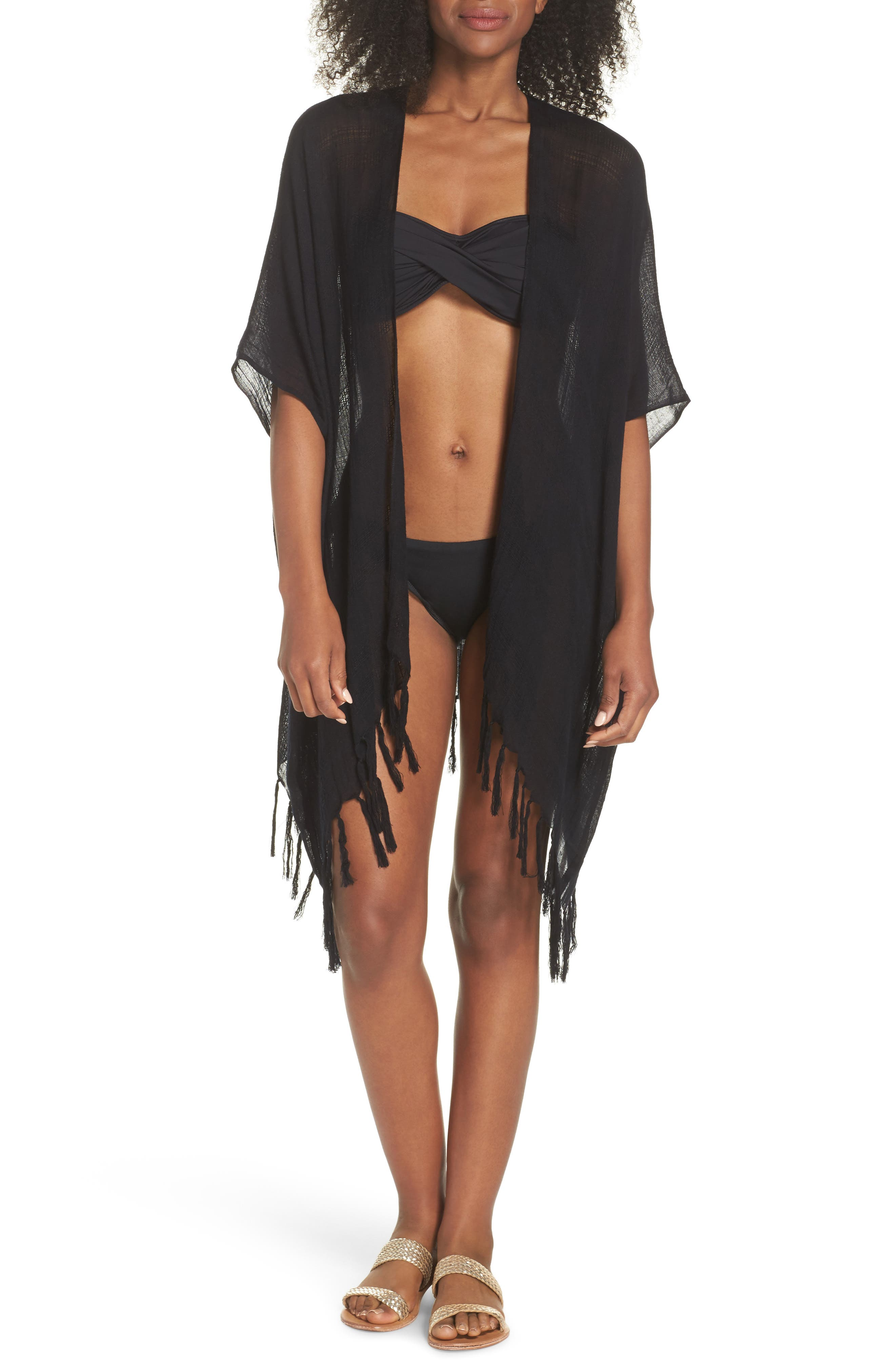 ECHO Bayshort Cover-Up Cardigan, Main, color, 001