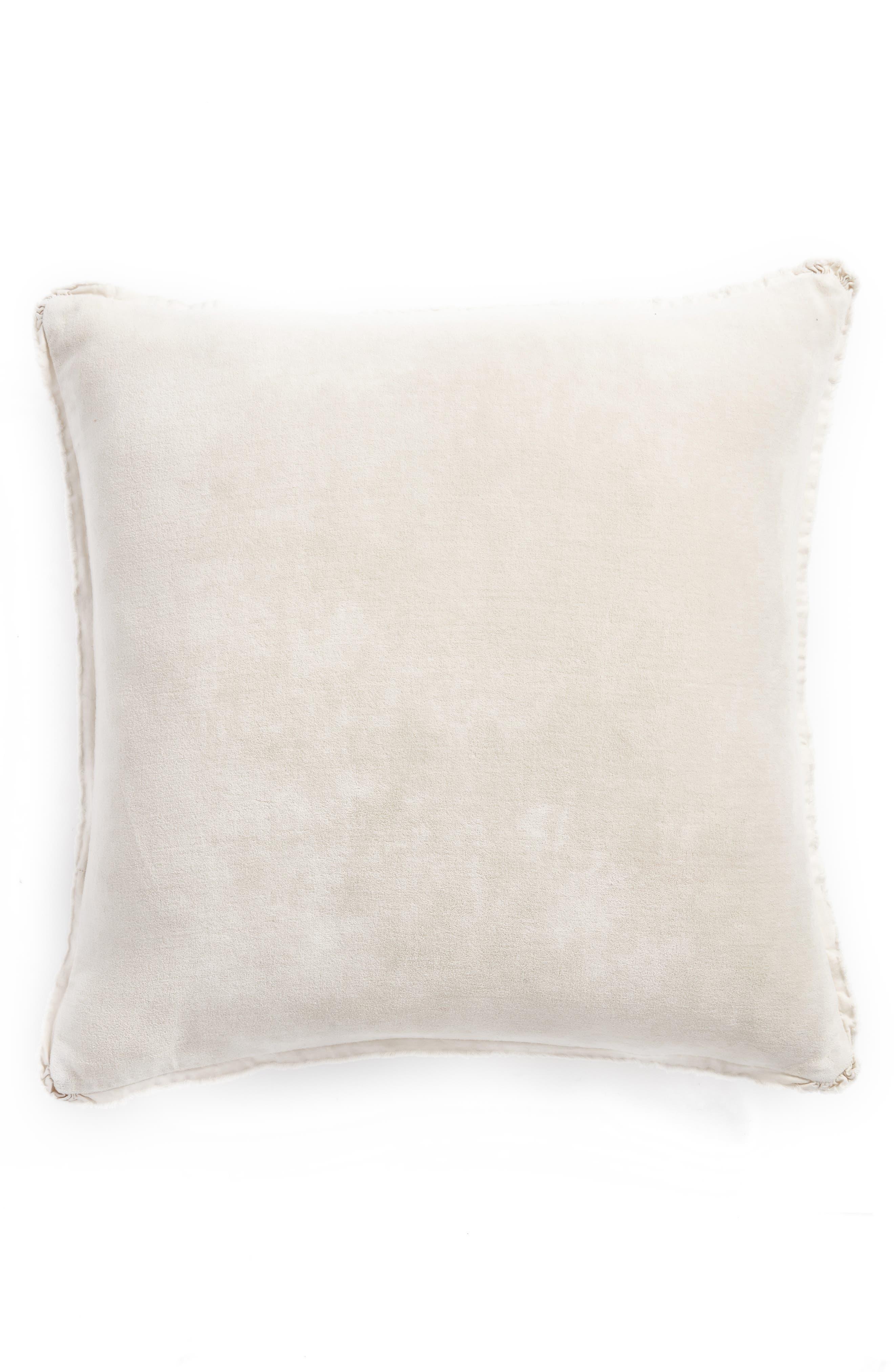 Stonewash Velvet Accent Pillow,                             Main thumbnail 1, color,                             GREY CHIME