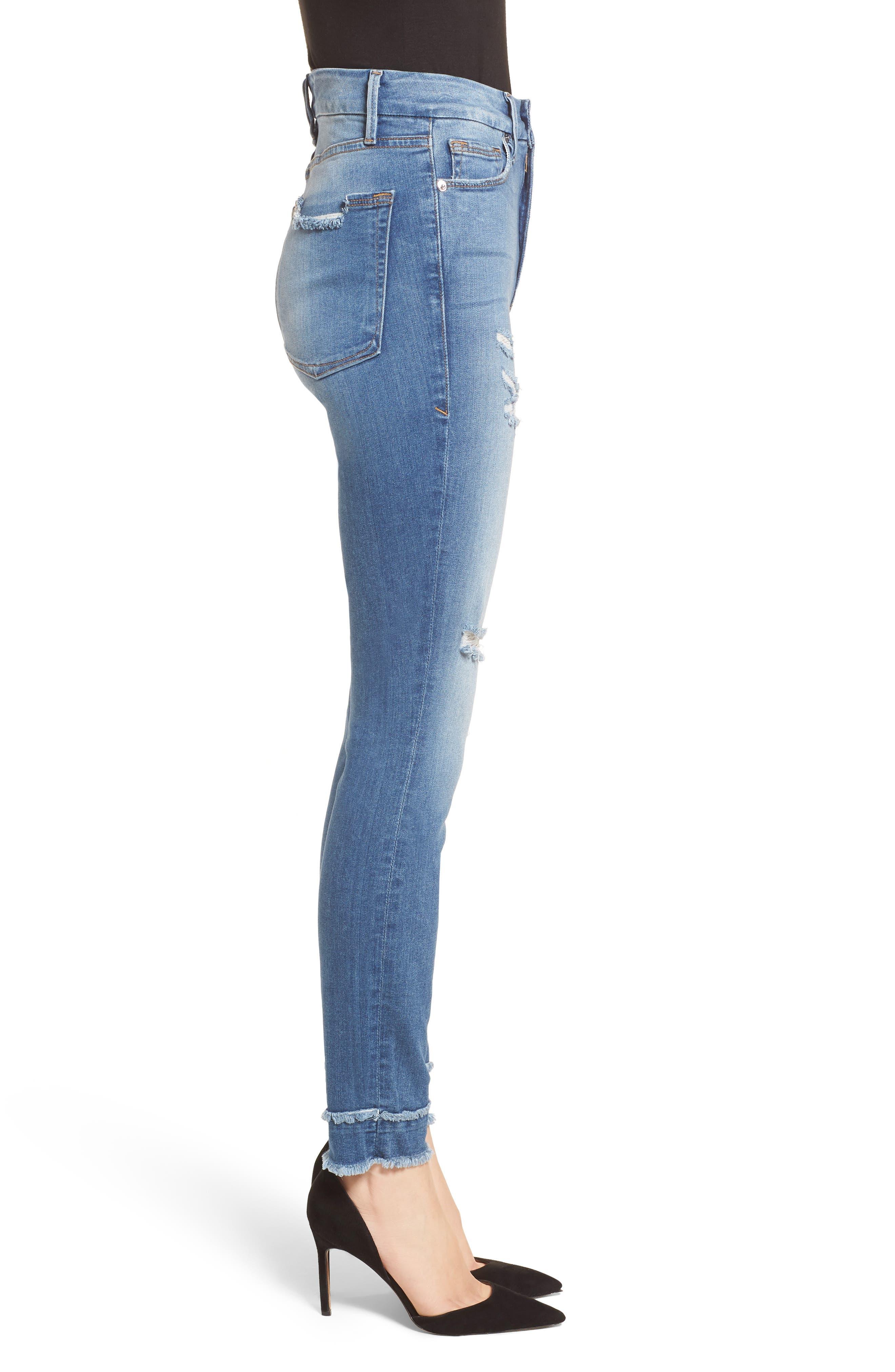 Good Waist High Waist Skinny Jeans,                             Alternate thumbnail 3, color,                             401