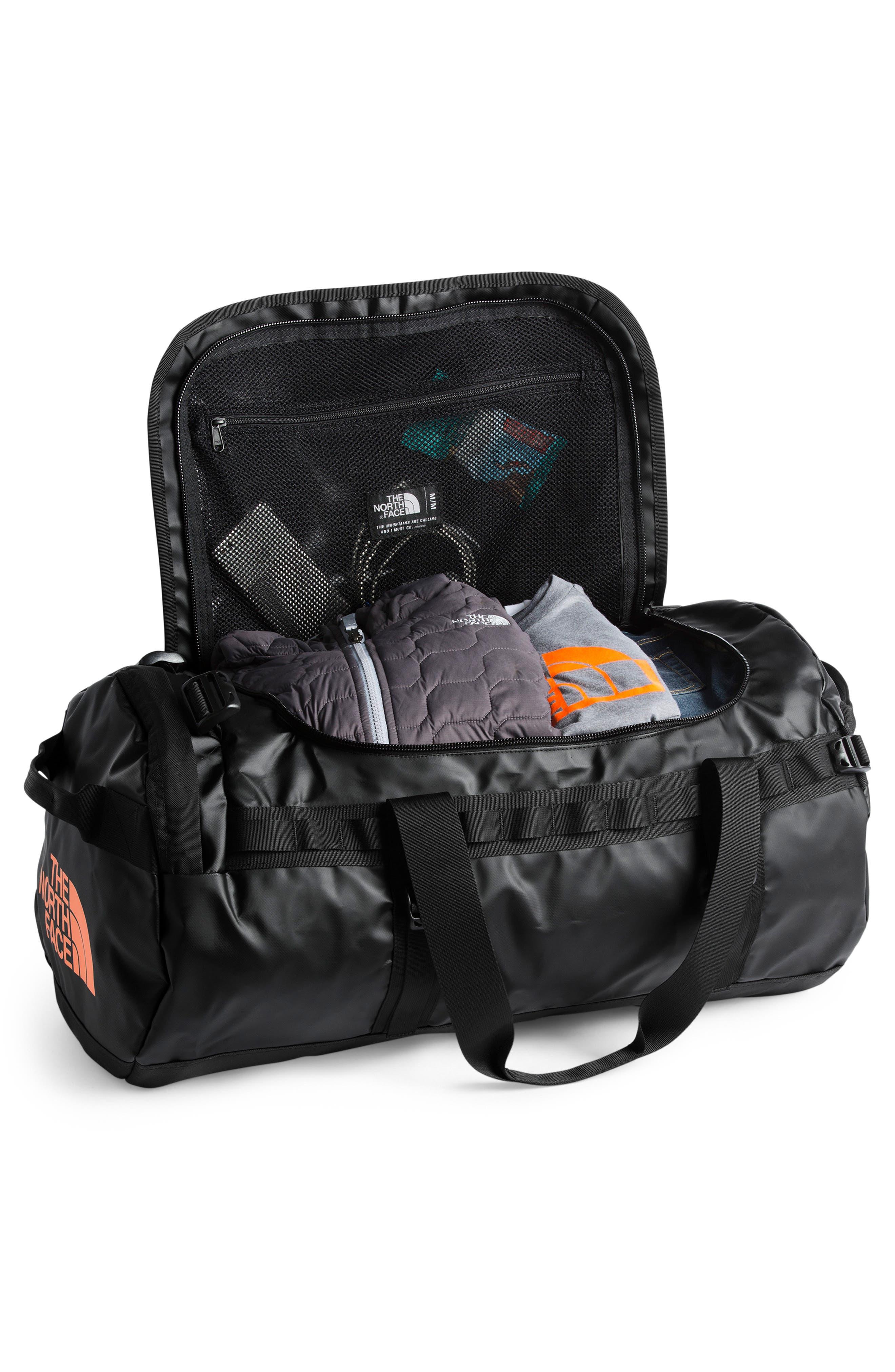 Base Camp Water Resistant Duffel Bag,                             Alternate thumbnail 2, color,                             TNF BLACK/ METALLIC COPPER