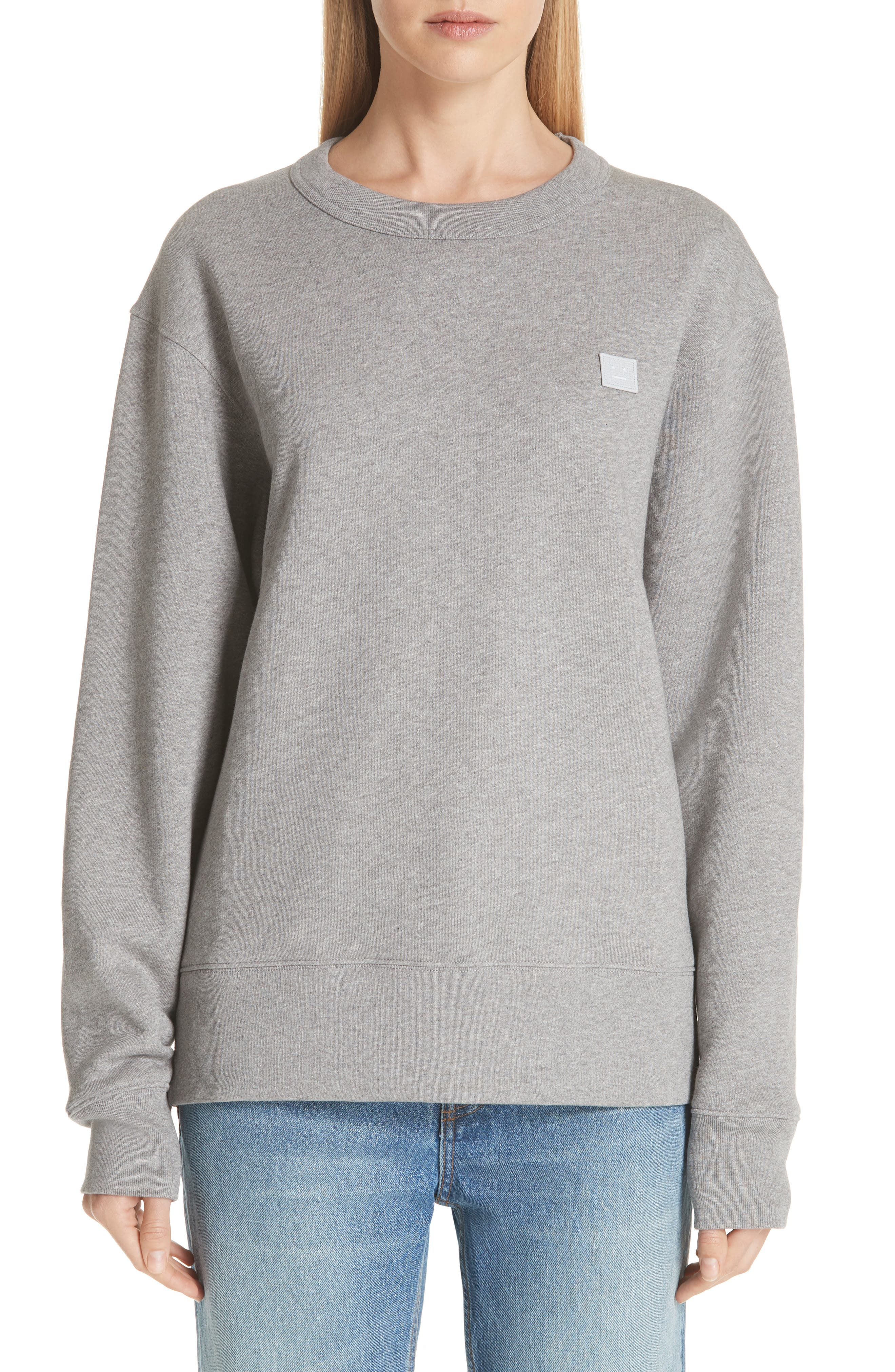 Fairview Sweatshirt in Light Grey Melange