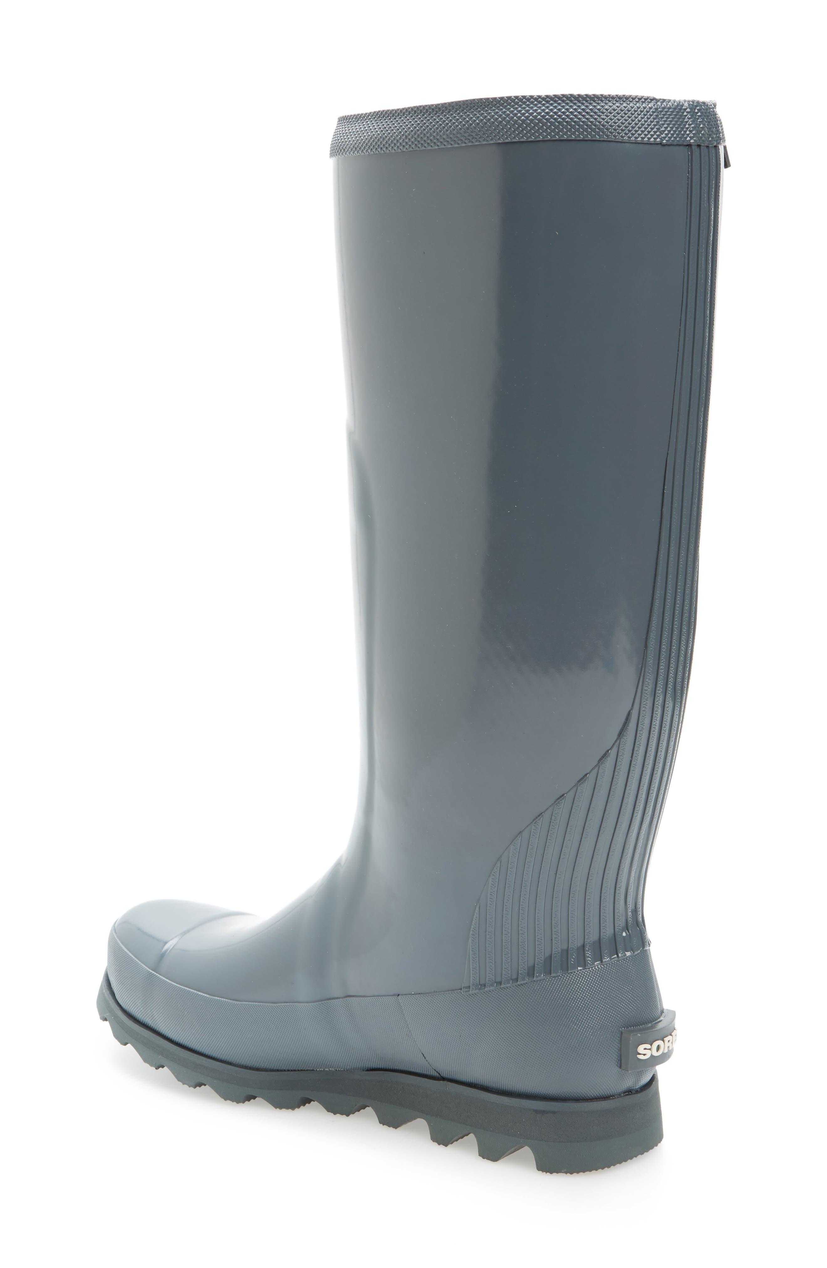 Joan Glossy Tall Rain Boot,                             Alternate thumbnail 4, color,
