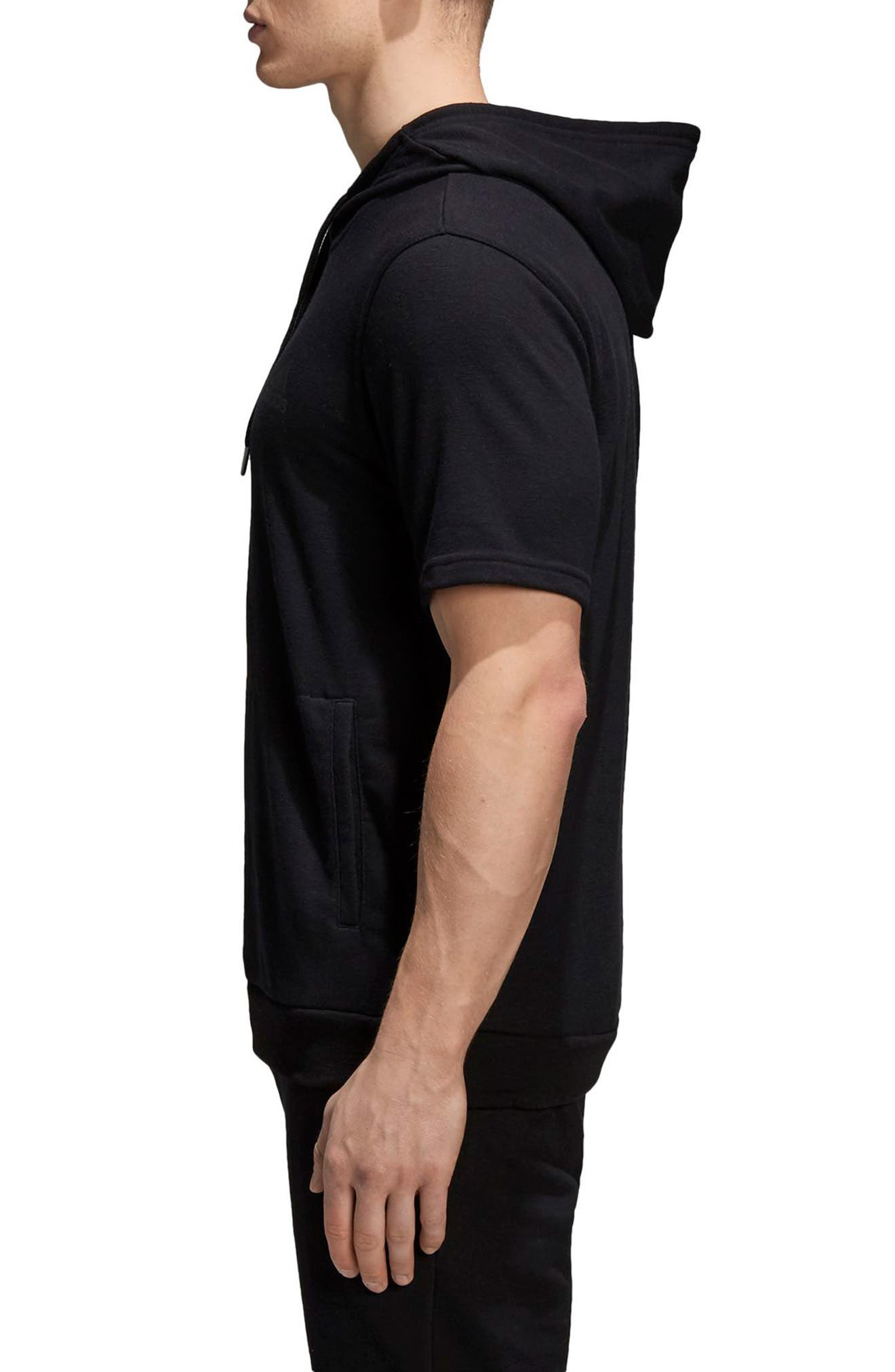 Pick-Up Shooter Short Sleeve Hoodie,                             Alternate thumbnail 3, color,                             001