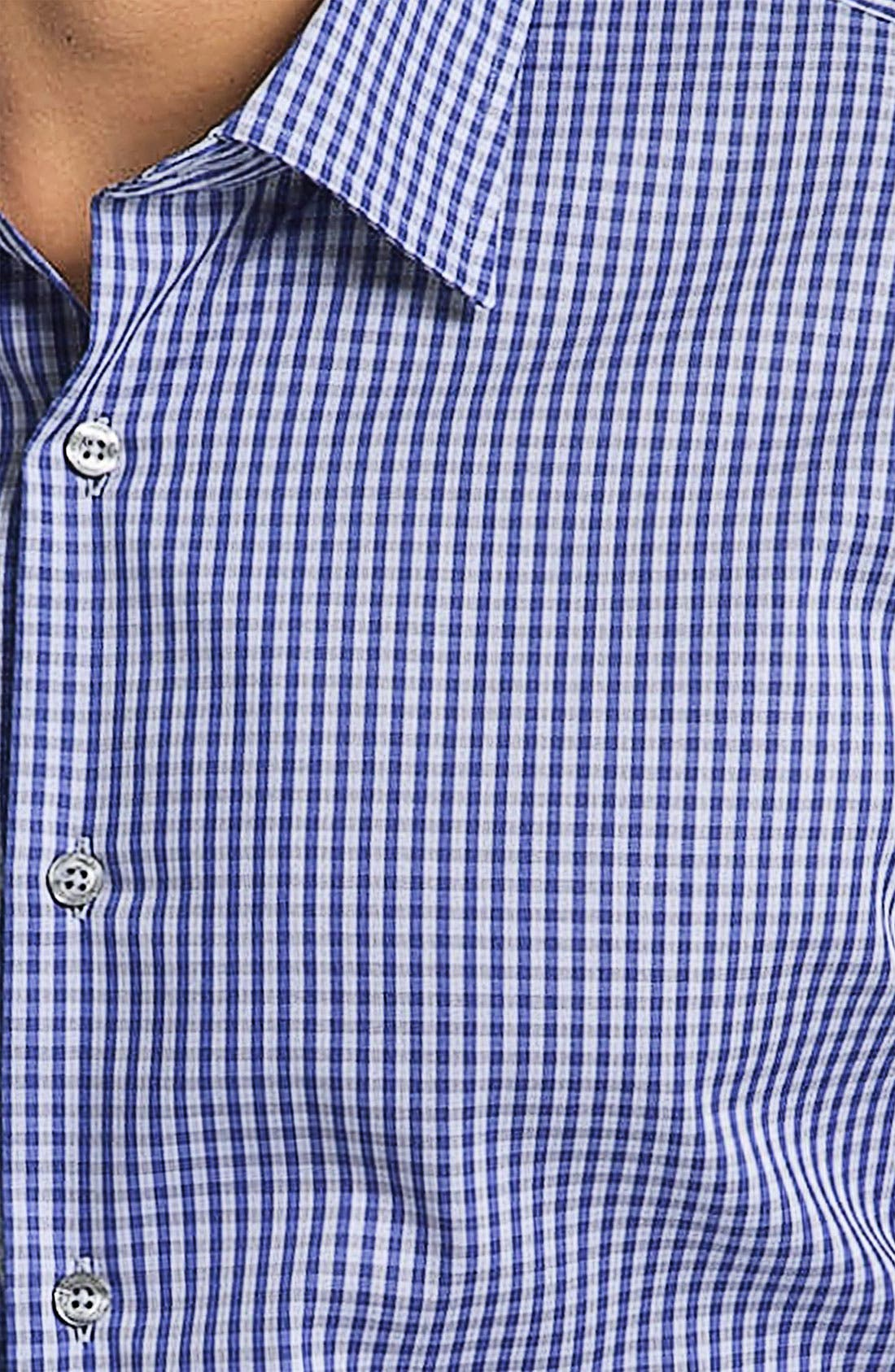 Gingham Check Dress Shirt,                             Alternate thumbnail 3, color,                             414