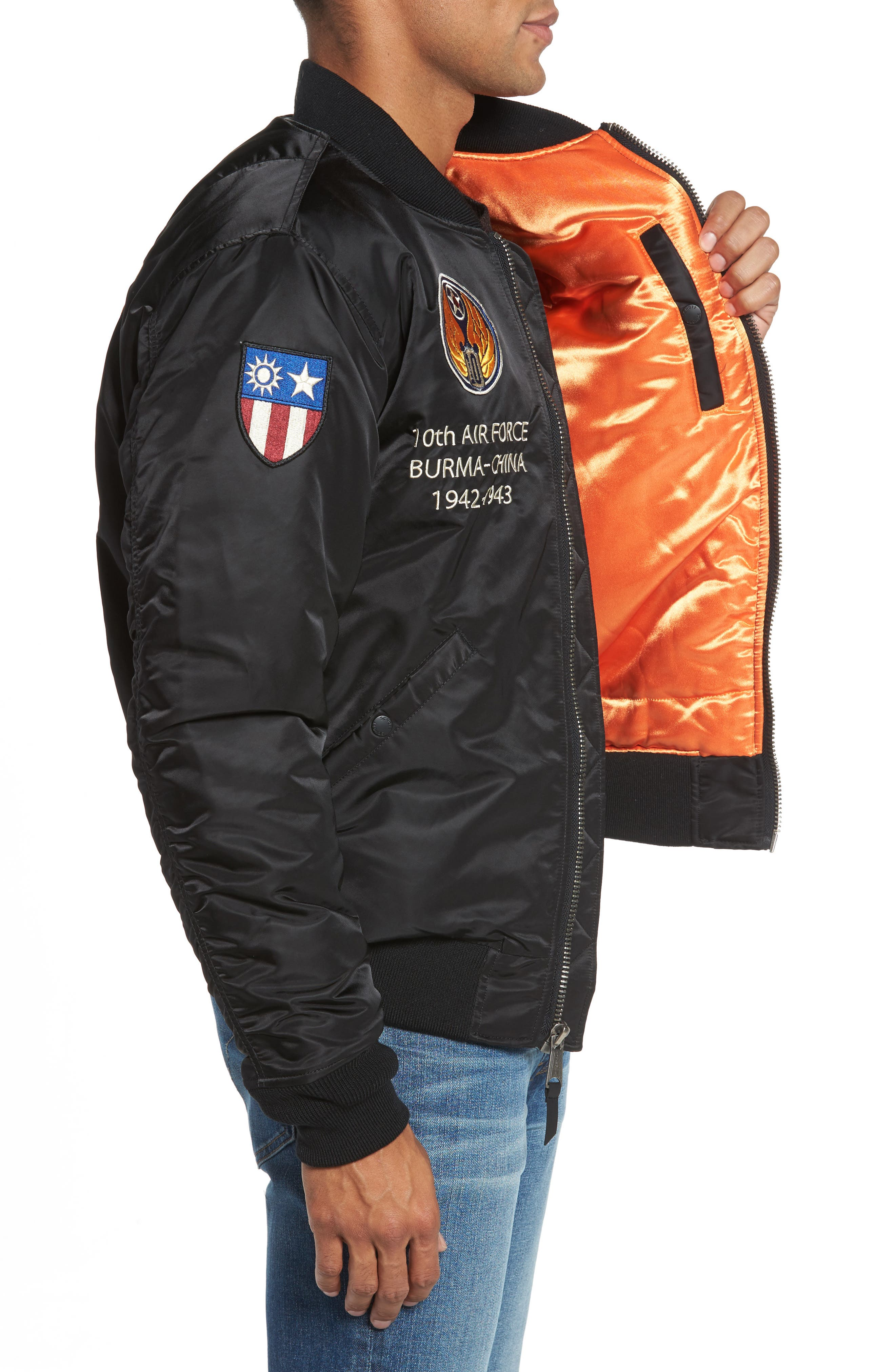 Highly Decorated Embroidered Flight Jacket,                             Alternate thumbnail 5, color,