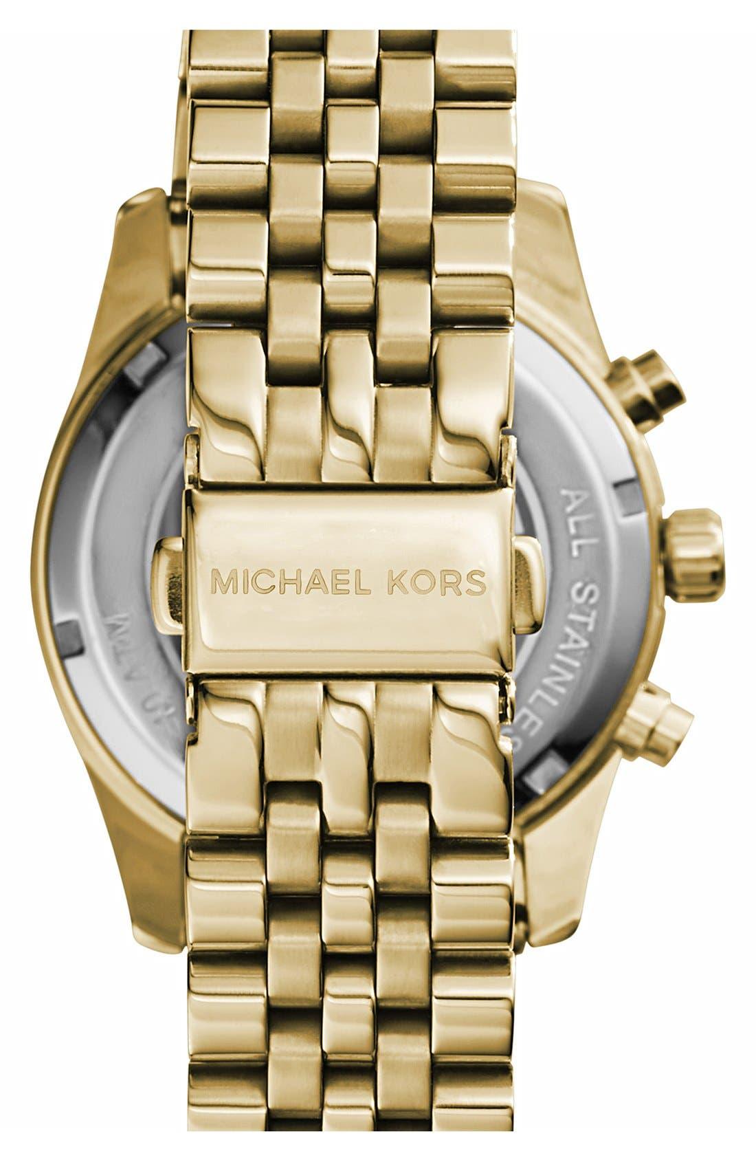 'Lexington' Chronograph Bracelet Watch, 38mm,                             Alternate thumbnail 40, color,