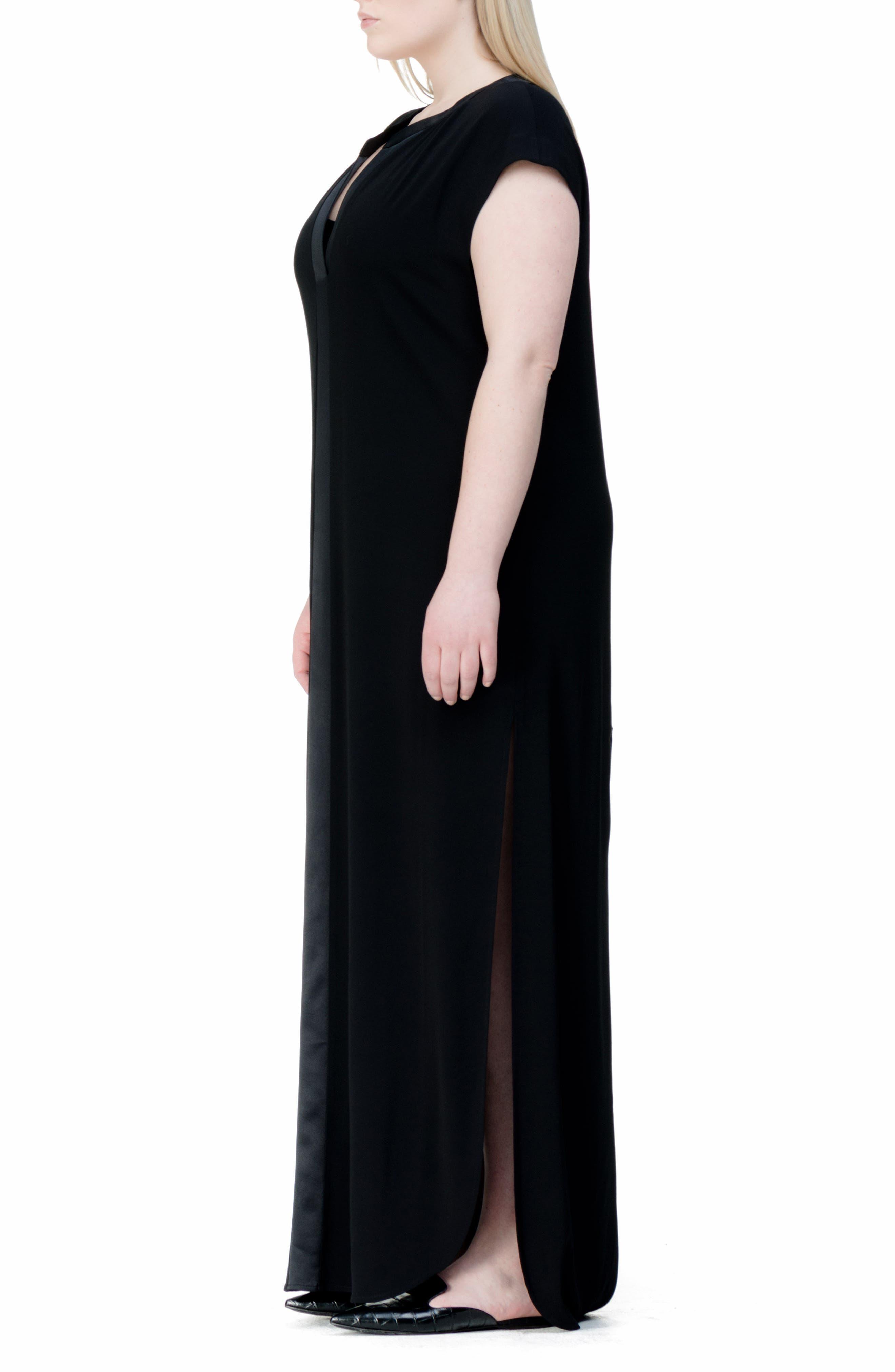 Winsett A-Line Gown,                             Alternate thumbnail 3, color,                             001