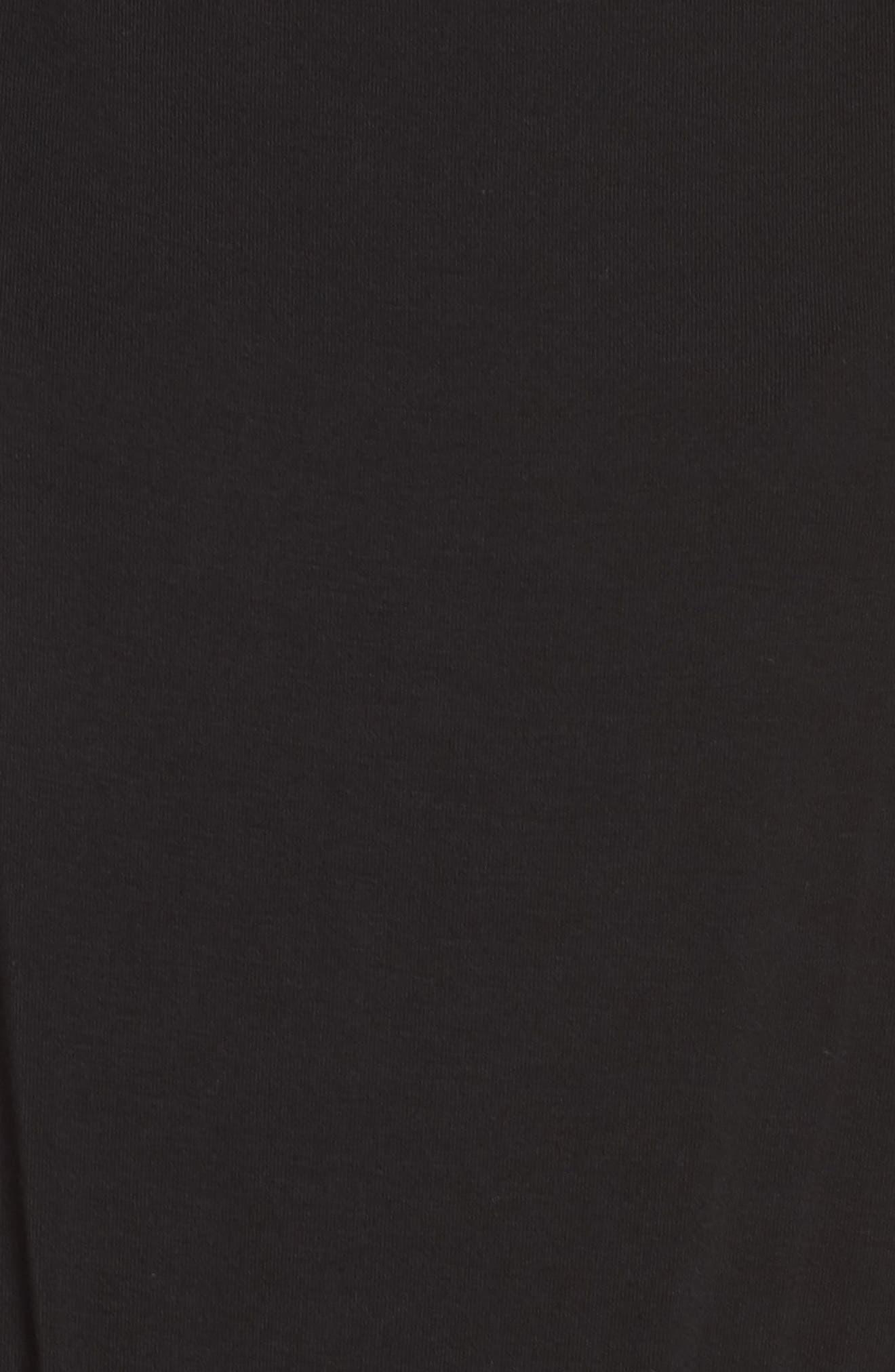 Hottie Off Duty Split Sleeve Jumpsuit,                             Alternate thumbnail 5, color,                             BLACK