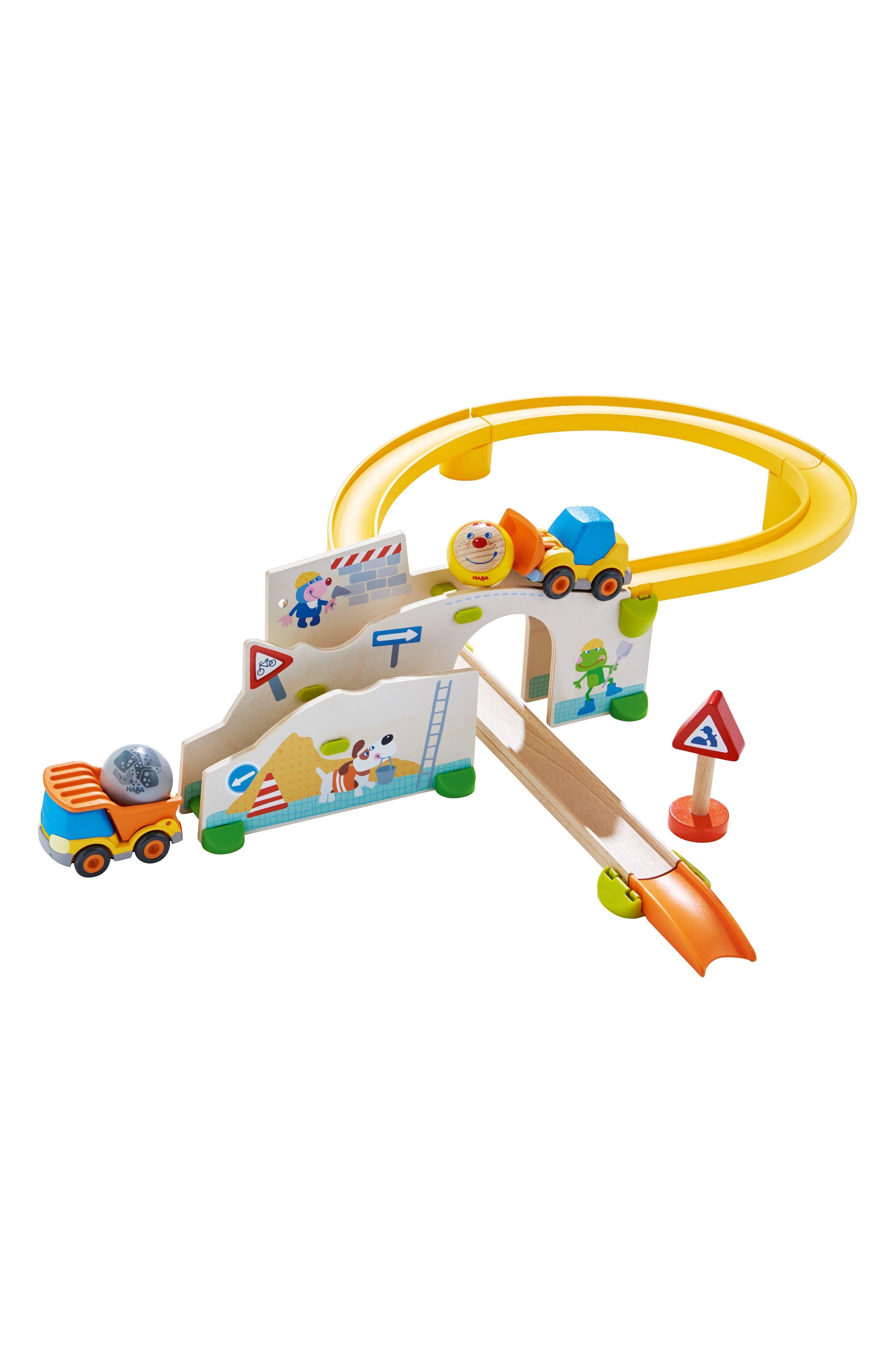 Toddler Boys Haba Kullerbu Construction Site Car  Track Play Set