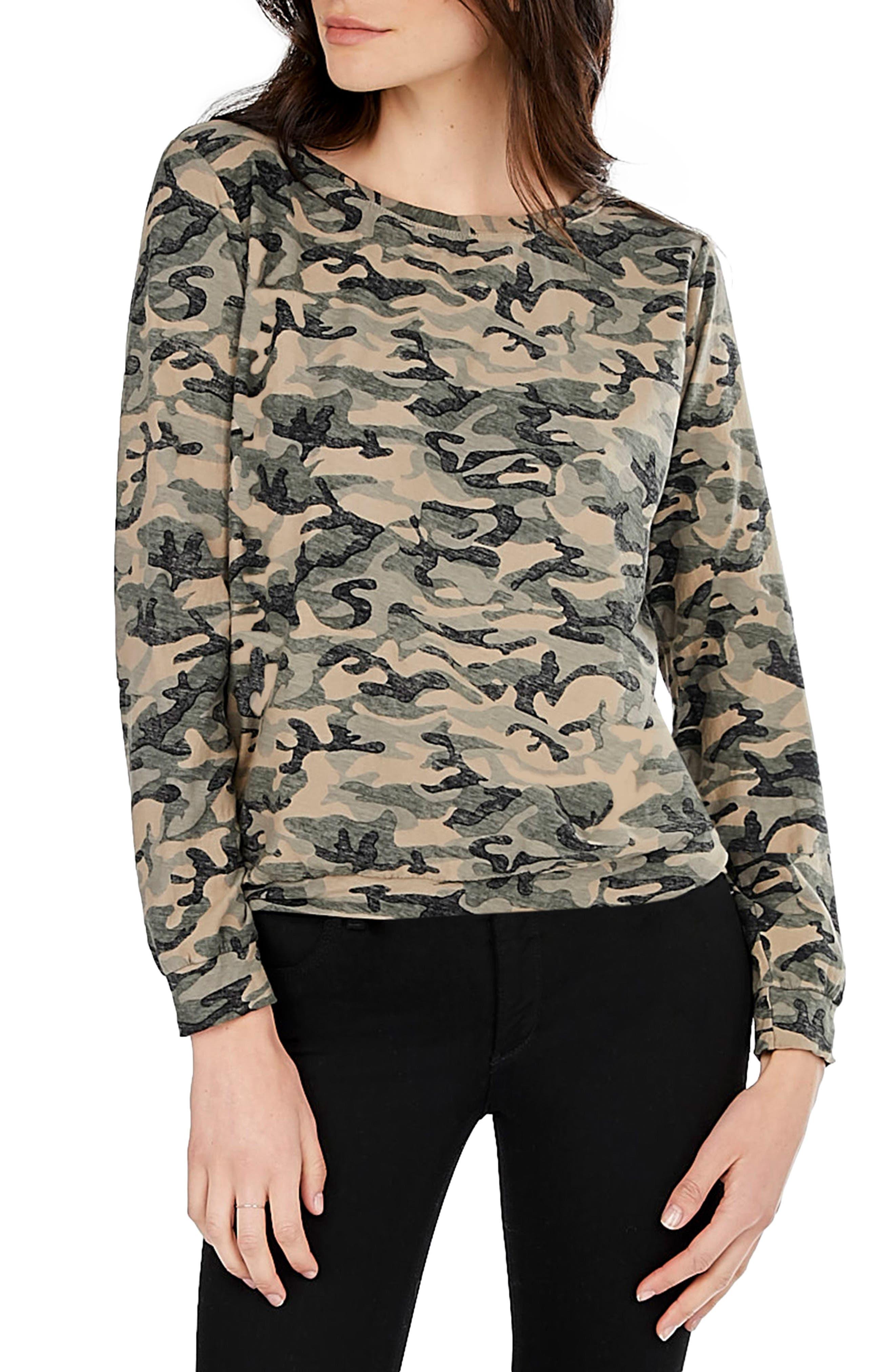 Camo Print Sweatshirt,                         Main,                         color, 261