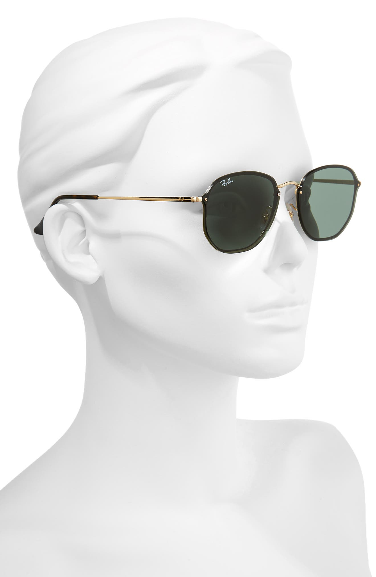 58mm Aviator Sunglasses,                             Alternate thumbnail 2, color,
