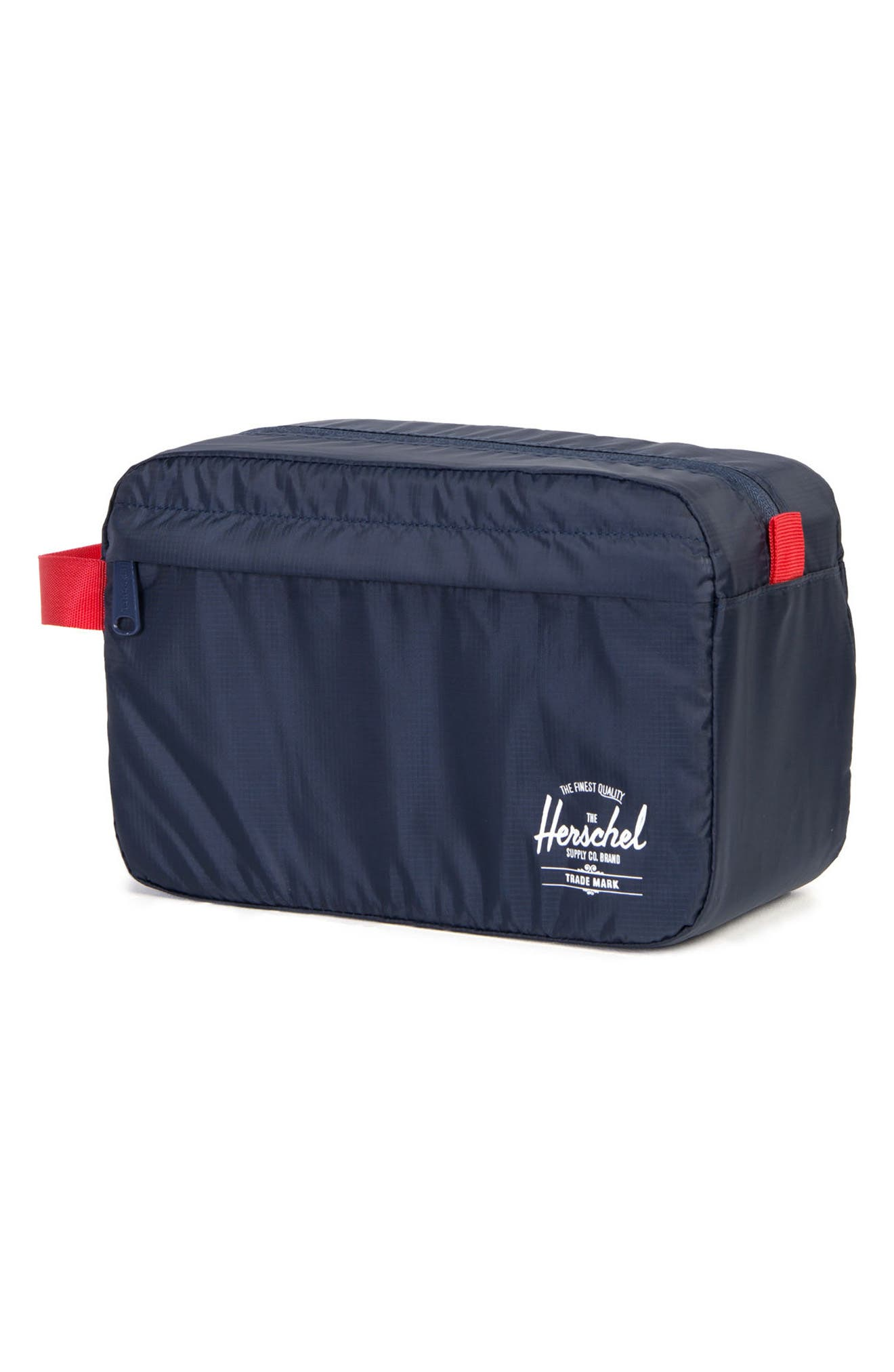 Toiletry Bag,                             Alternate thumbnail 2, color,                             NAVY/ RED