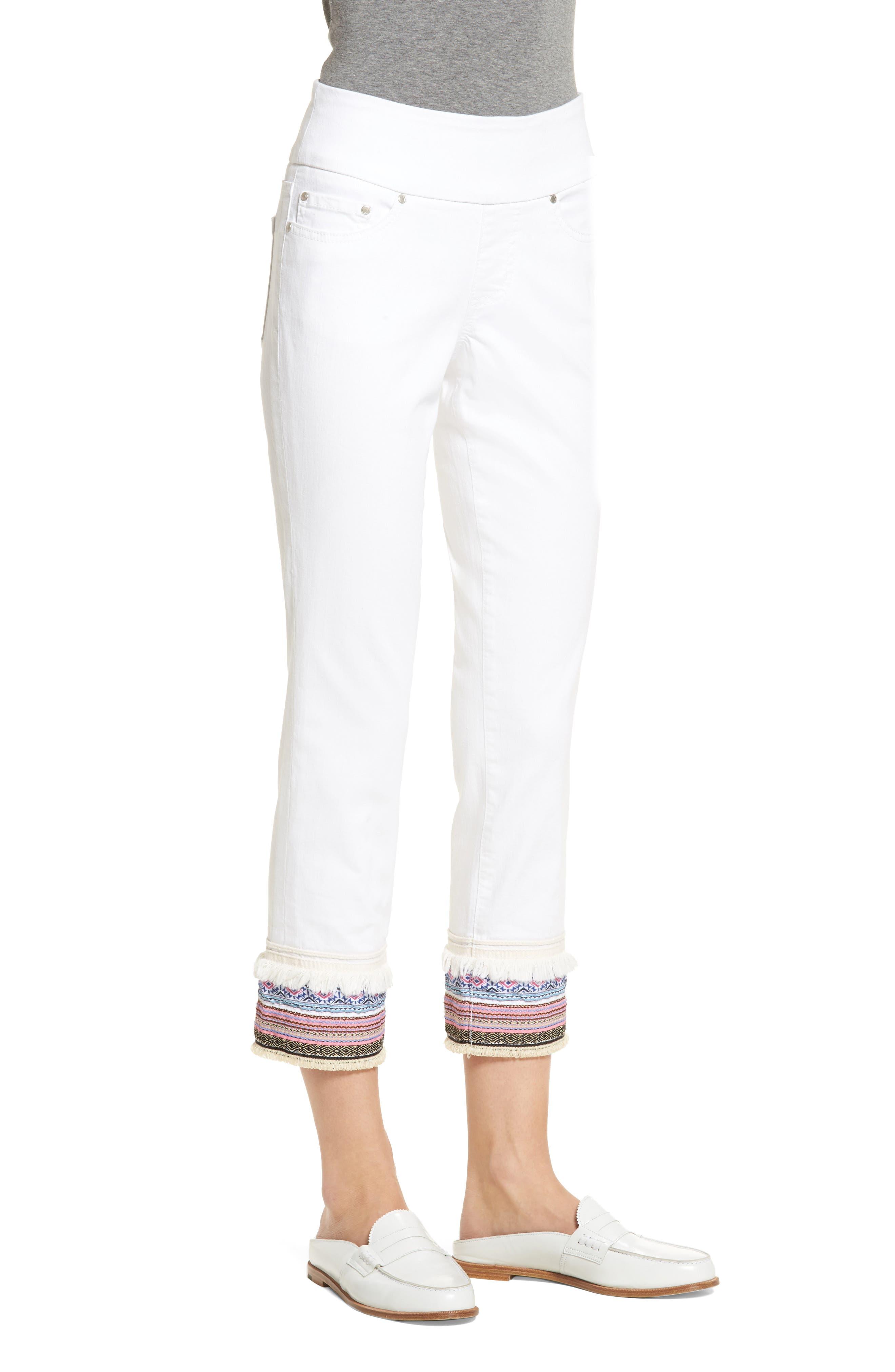 Embellished Denim Pants,                             Alternate thumbnail 3, color,                             168