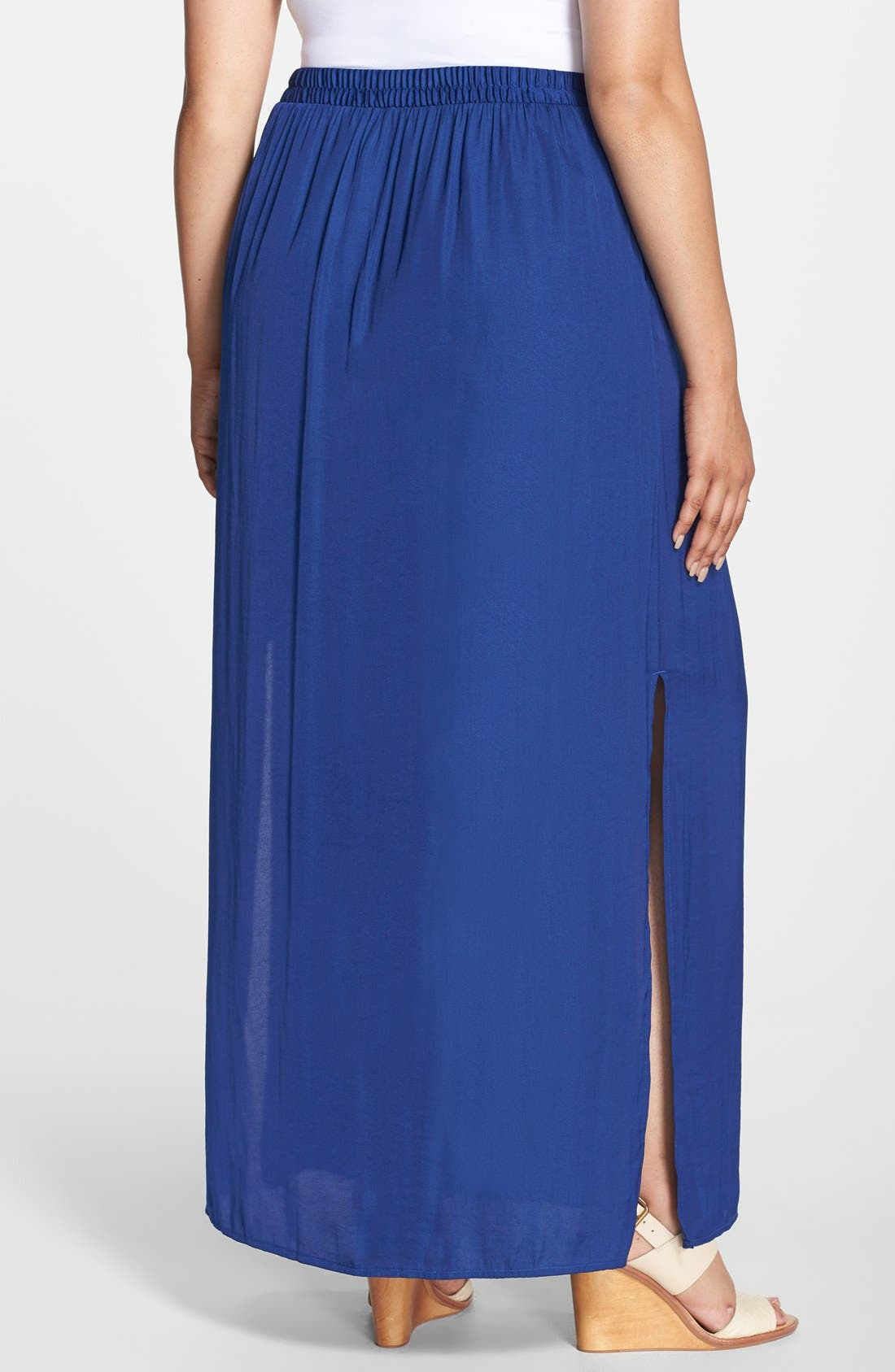'Tarot' Side Slit Maxi Skirt,                             Alternate thumbnail 3, color,                             419
