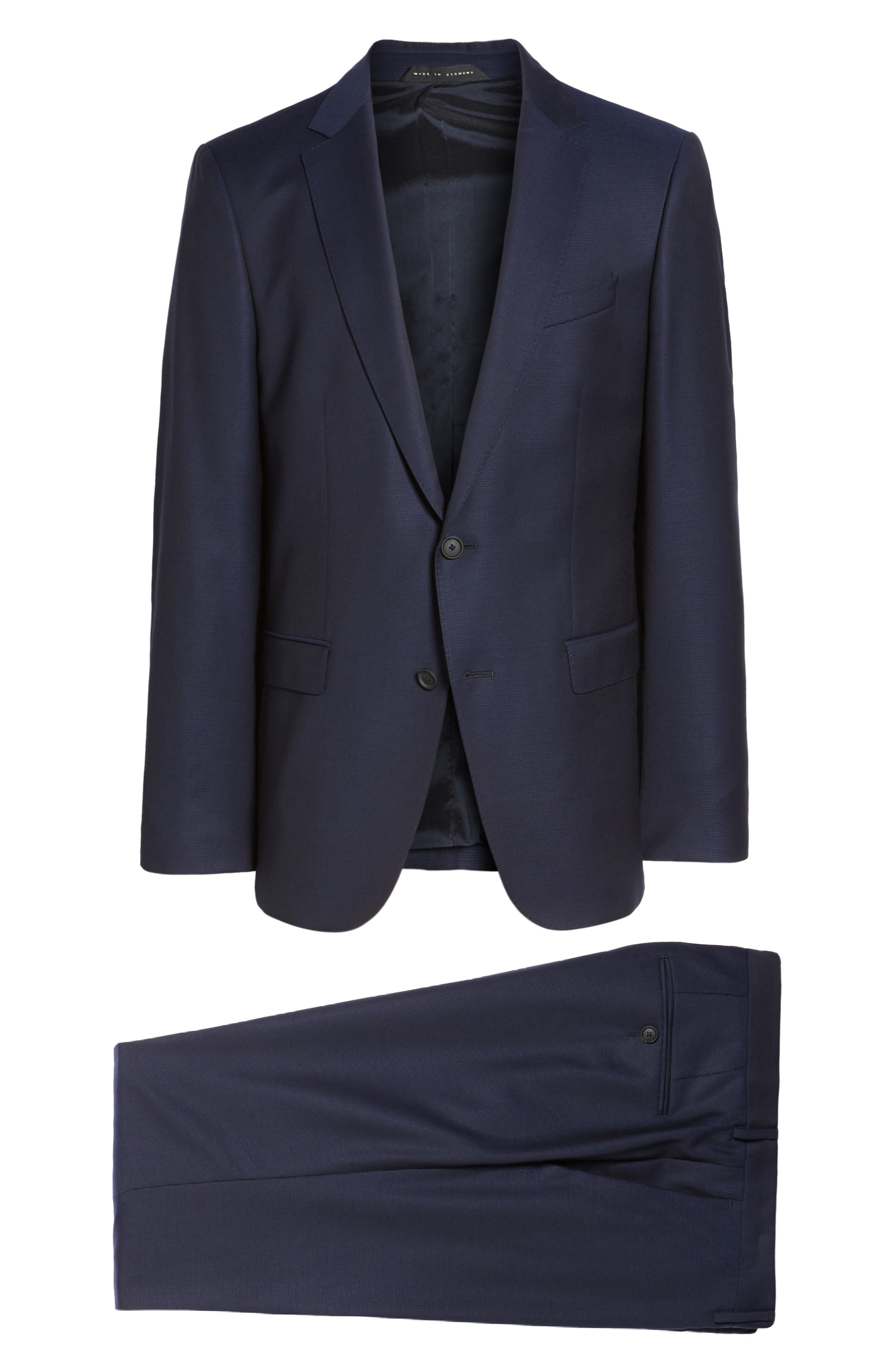 Nestro/Byte Trim Fit Solid Wool Suit,                             Alternate thumbnail 8, color,                             410