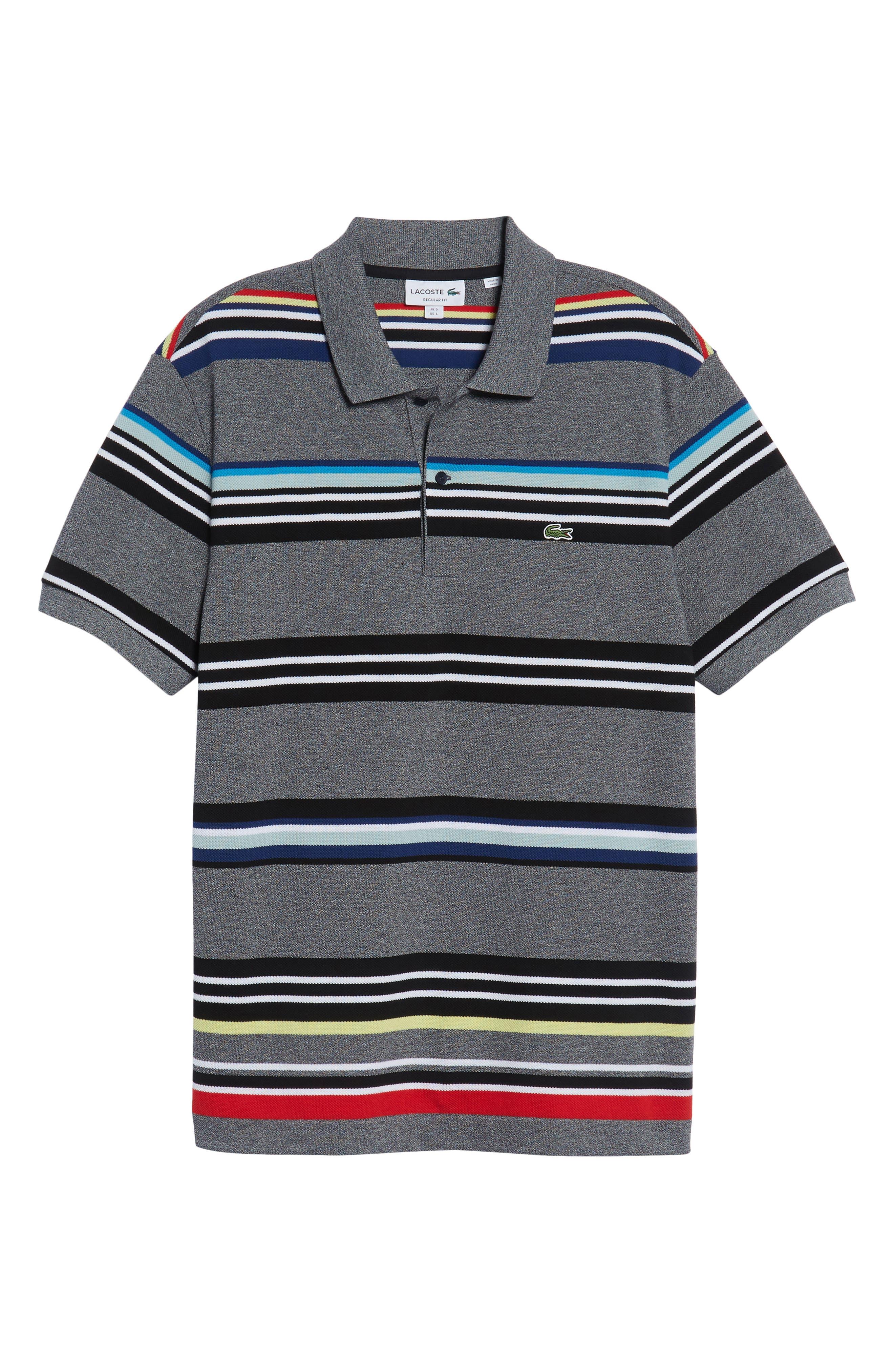Mouline Stripe Piqué Polo,                             Alternate thumbnail 6, color,                             060
