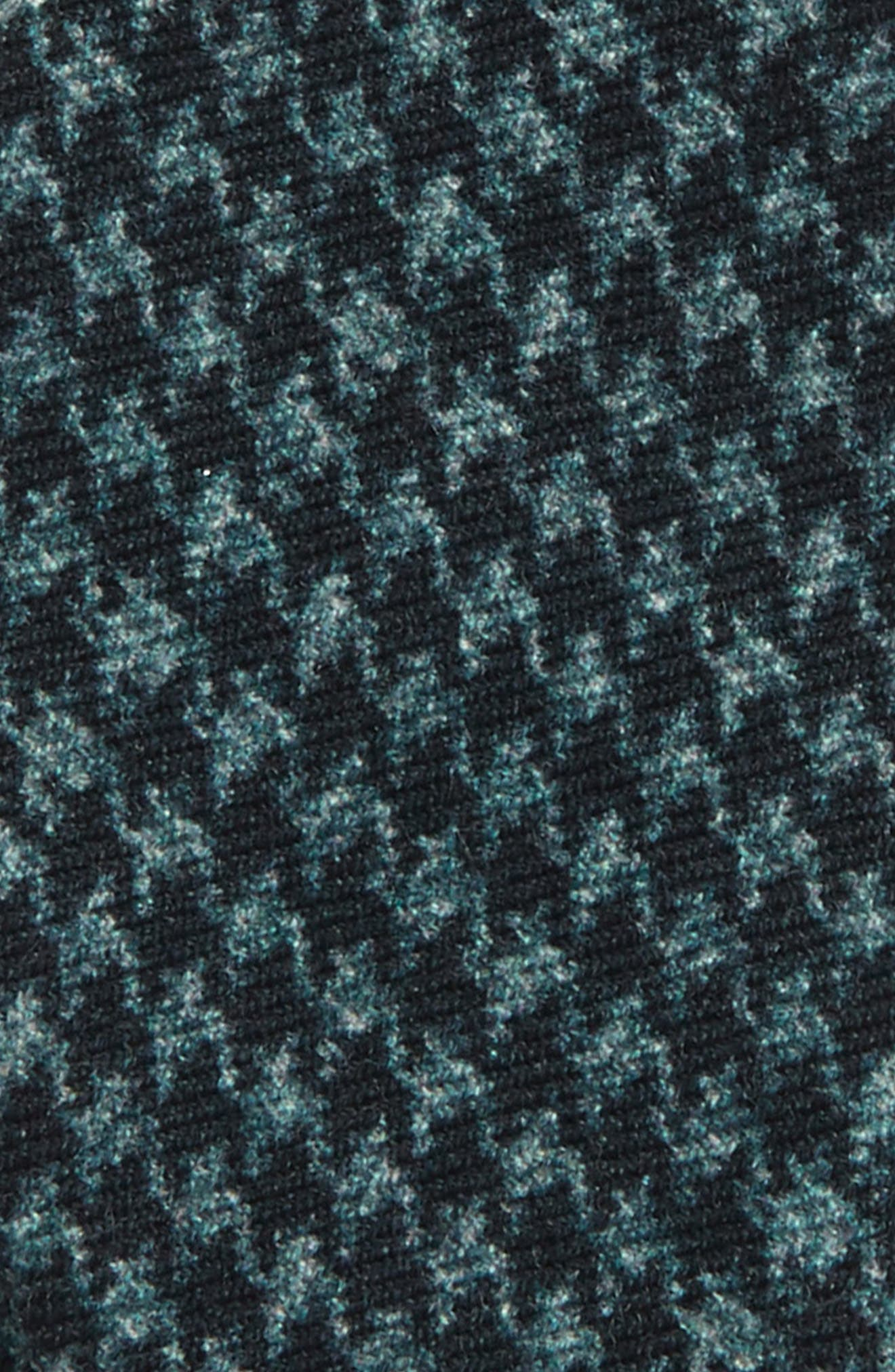 Woolf Houndstooth Wool Bow Tie,                             Alternate thumbnail 3, color,                             001