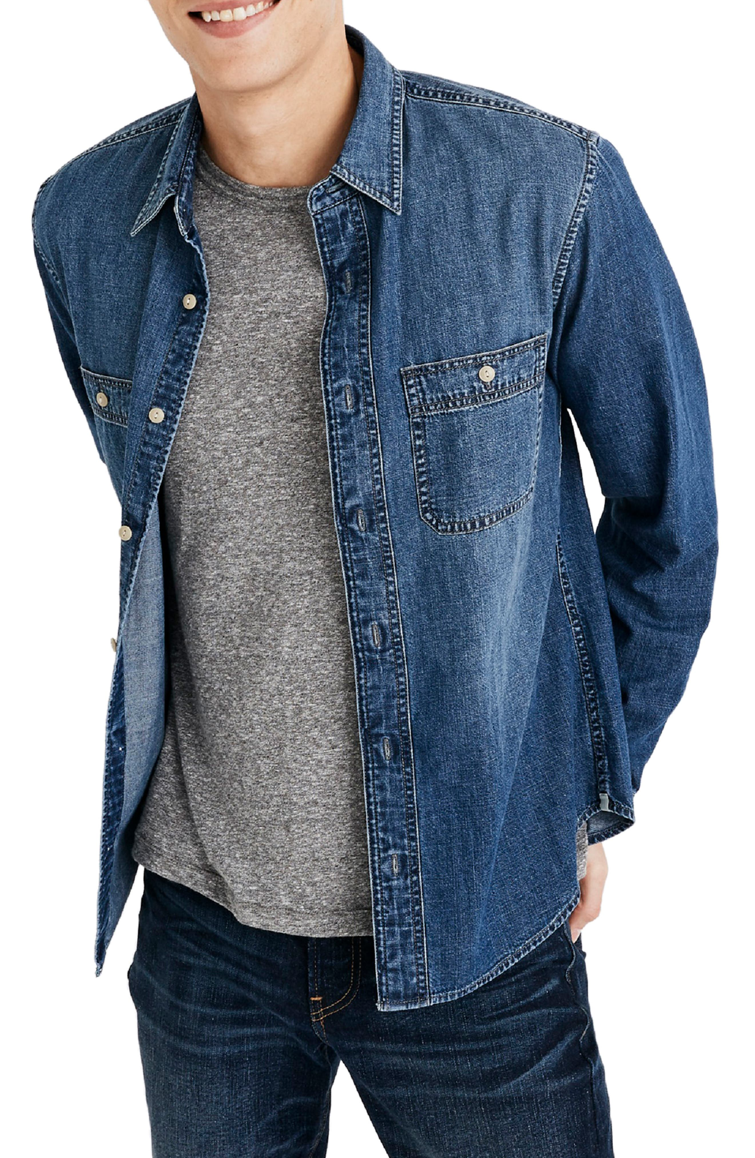 Classic Button Down Shirt,                         Main,                         color, NEWHALL WASH