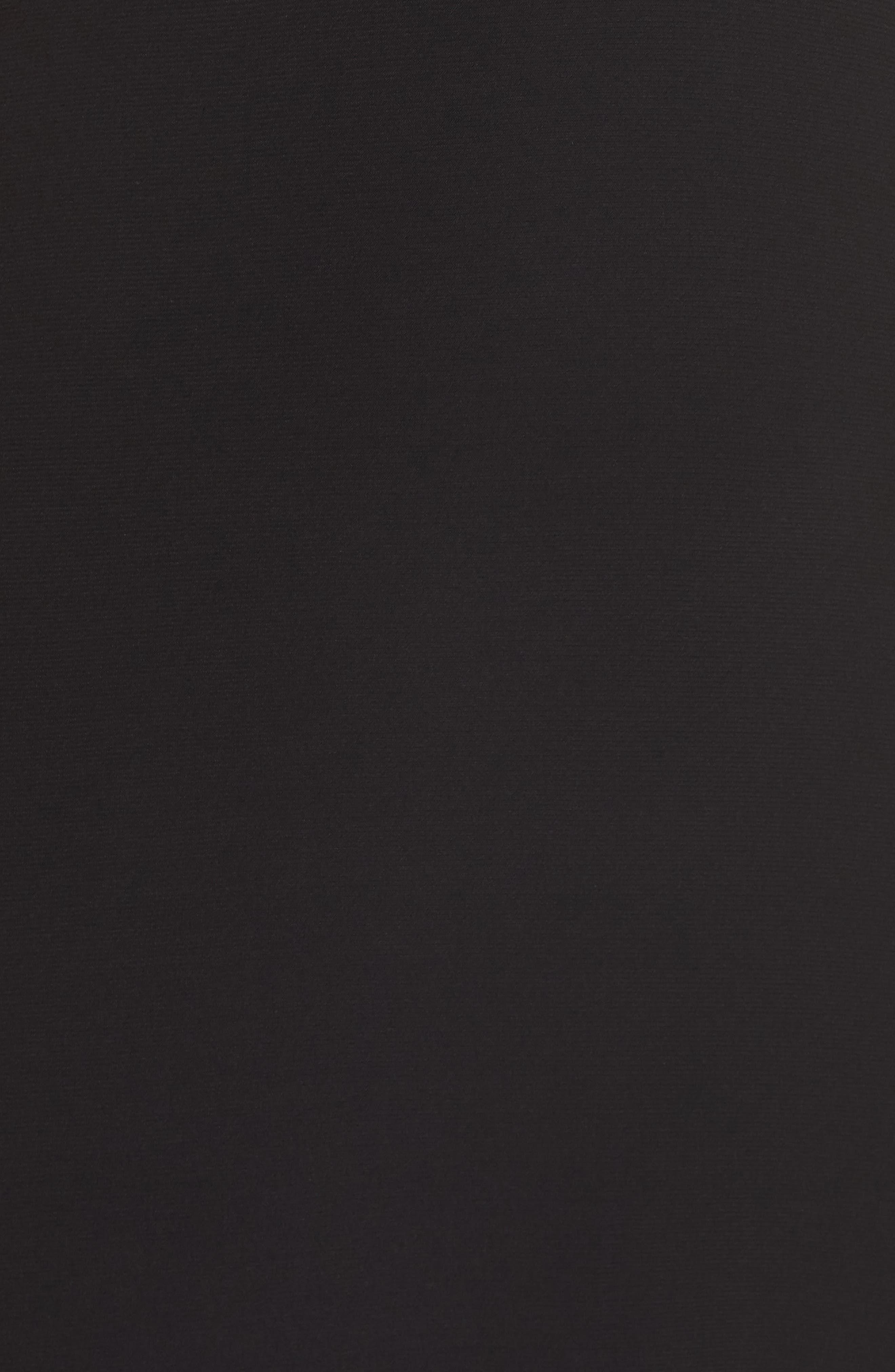 MORGAN & CO.,                             Lace & Illusion Mesh Bodice Gown,                             Alternate thumbnail 6, color,                             BLACK/ NUDE