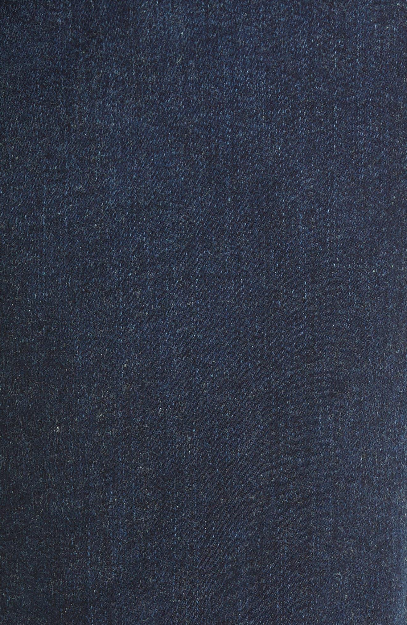 Mile High Super Skinny Jeans,                             Alternate thumbnail 6, color,                             JET SETTER