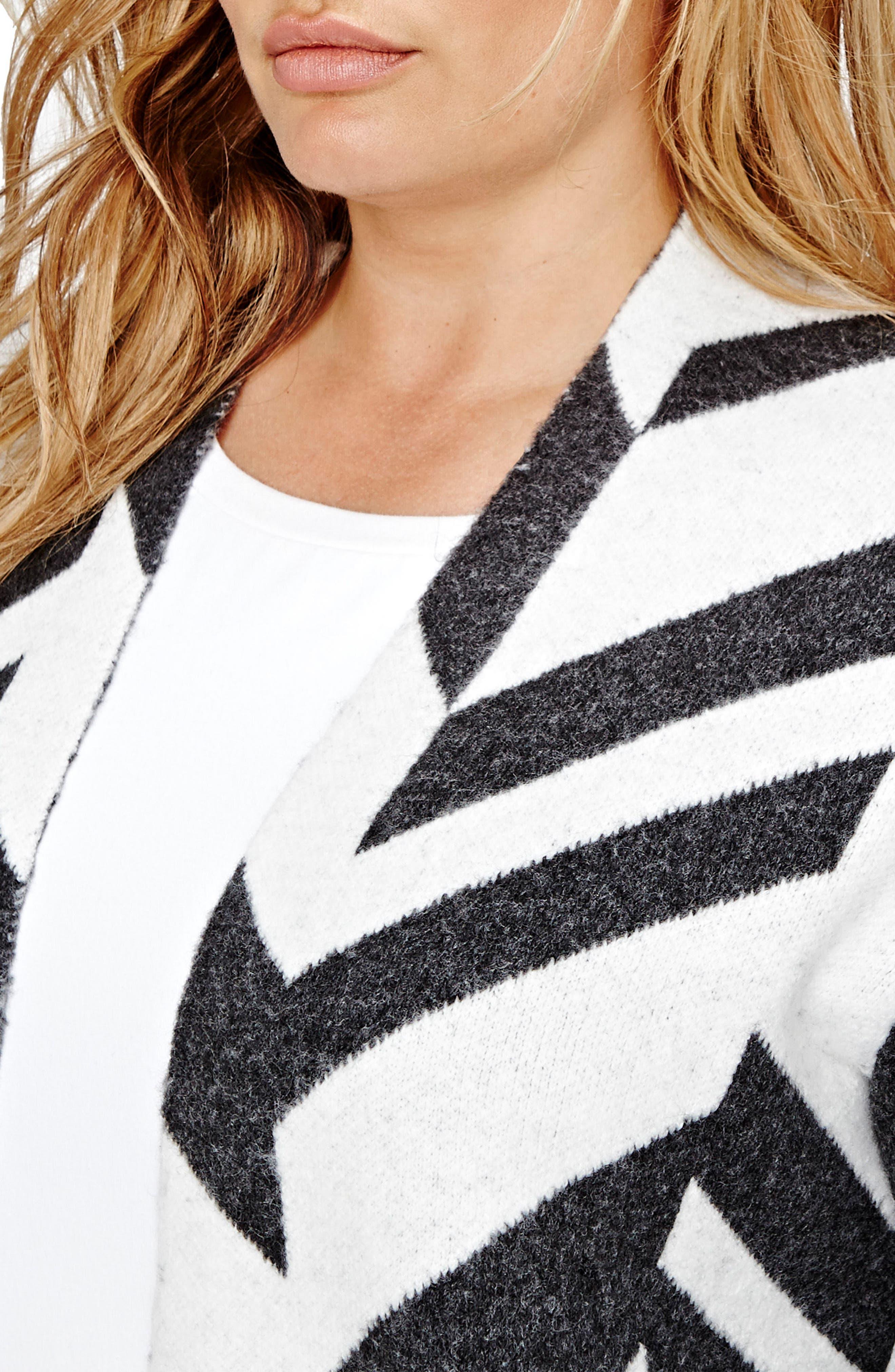 Patterned Sweater Coat,                             Alternate thumbnail 3, color,                             020