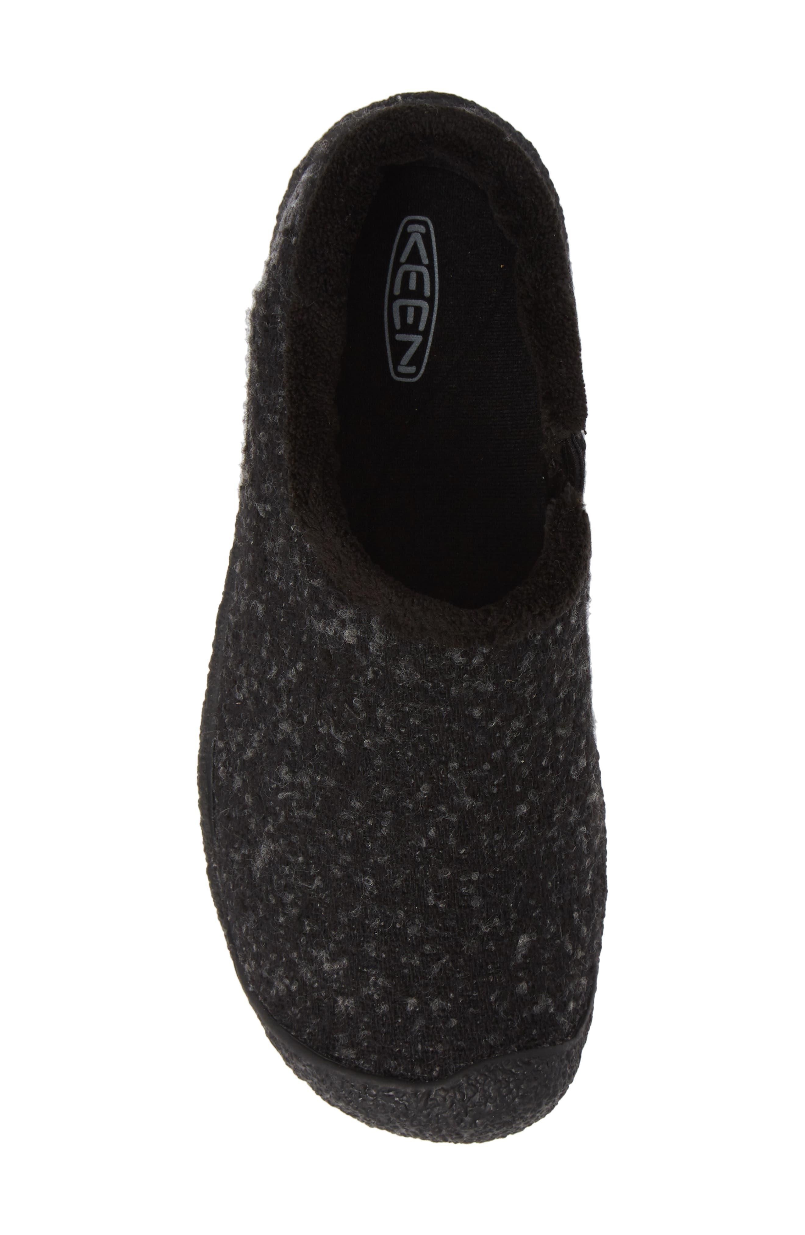 Howser Round Toe Wool Slip-on,                             Alternate thumbnail 5, color,                             BLACK KNOBBY/ STEEL GREY WOOL