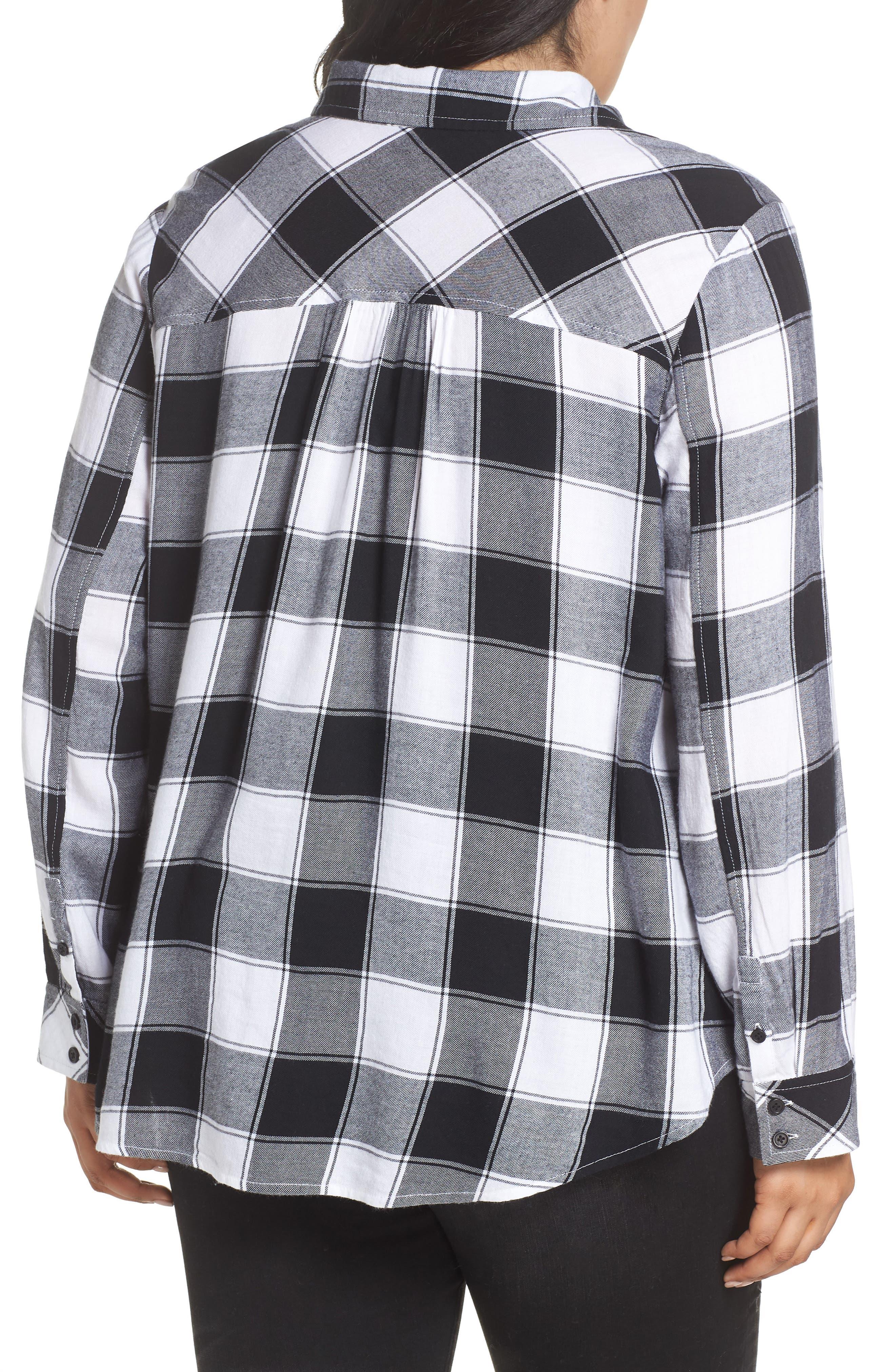 Plaid Shirt,                             Alternate thumbnail 2, color,                             BLACK DALEY PLAID