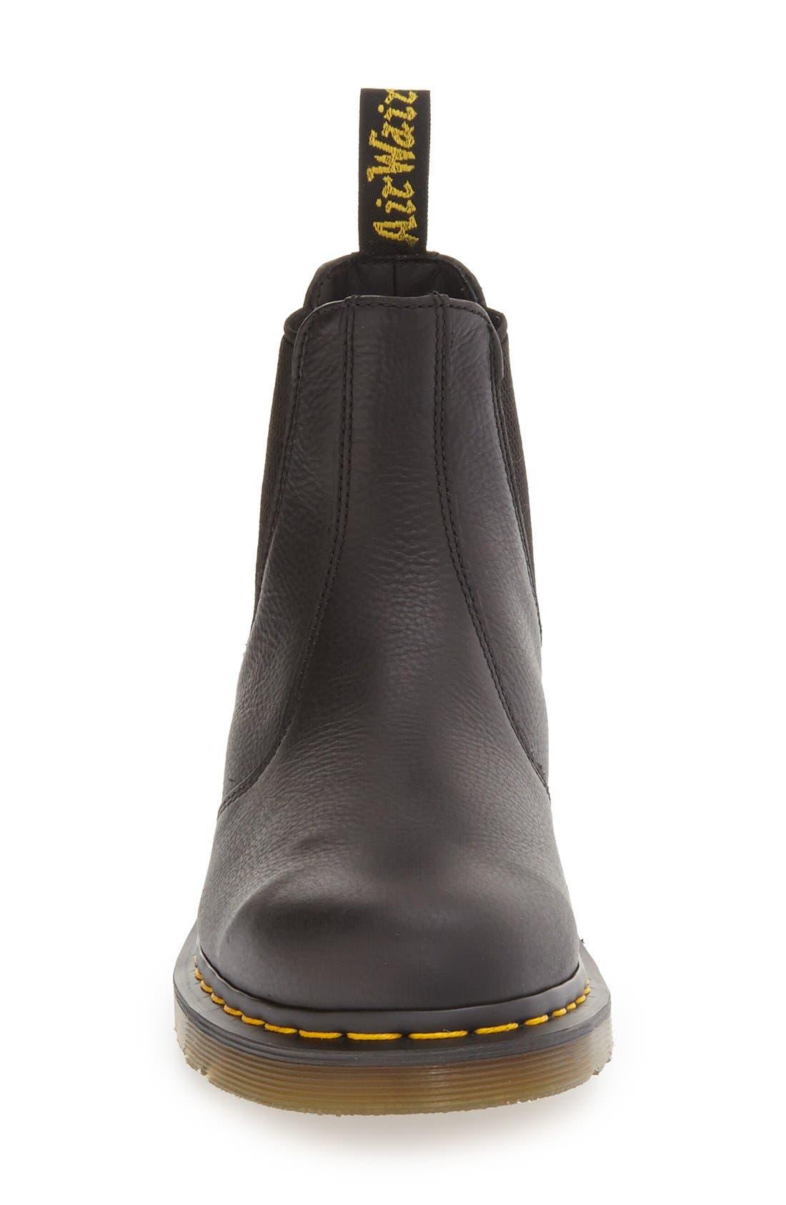 DR. MARTENS,                             '2976' Chelsea Boot,                             Alternate thumbnail 4, color,                             BLACK LEATHER